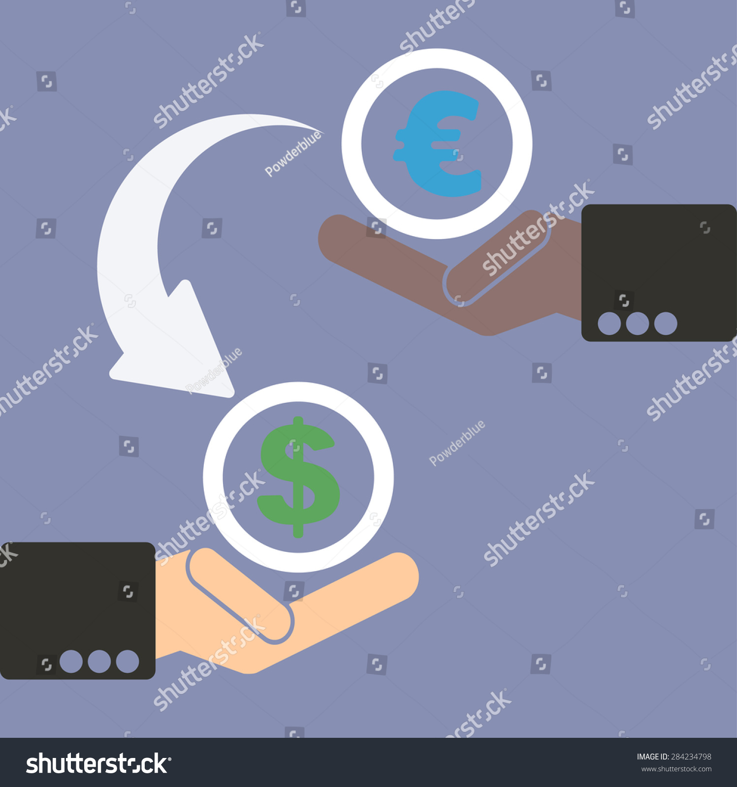 Human hand currency symbols market stock stock vector 284234798 human hand with currency symbols for market and stock money exchange concept in vector euro biocorpaavc Gallery
