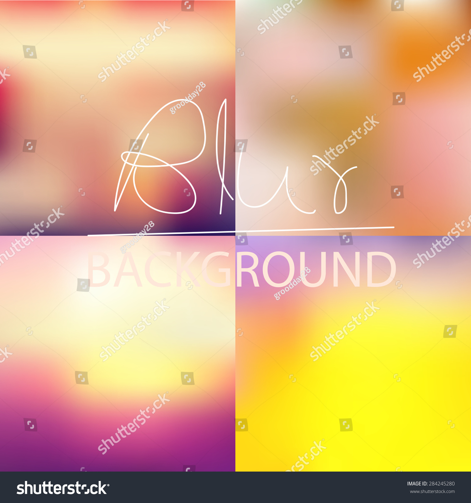 Vector Illustration Instagram: Soft Blurred Abstract Background Set Collection Stock