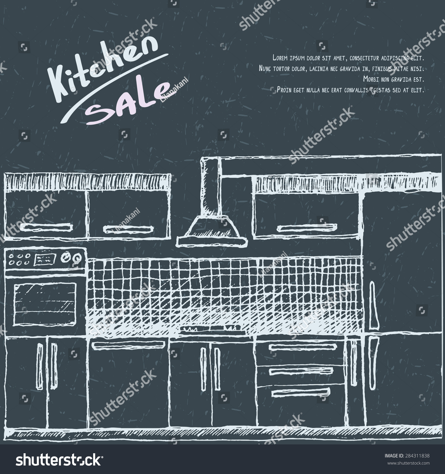 Modular Kitchen Sale Flyer Brochure Poster Stock Vector 284311838 ...
