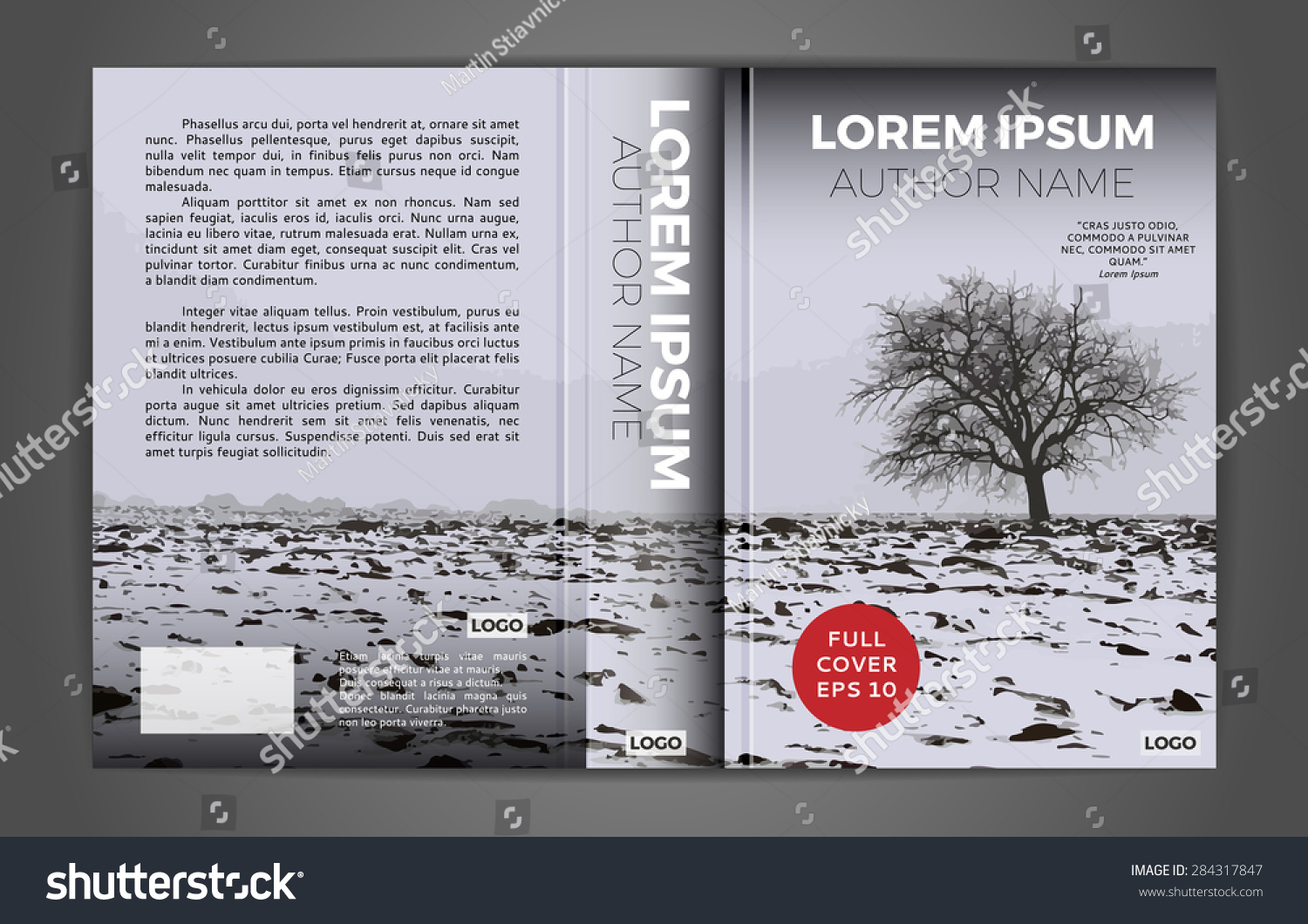 Full book cover design Vector