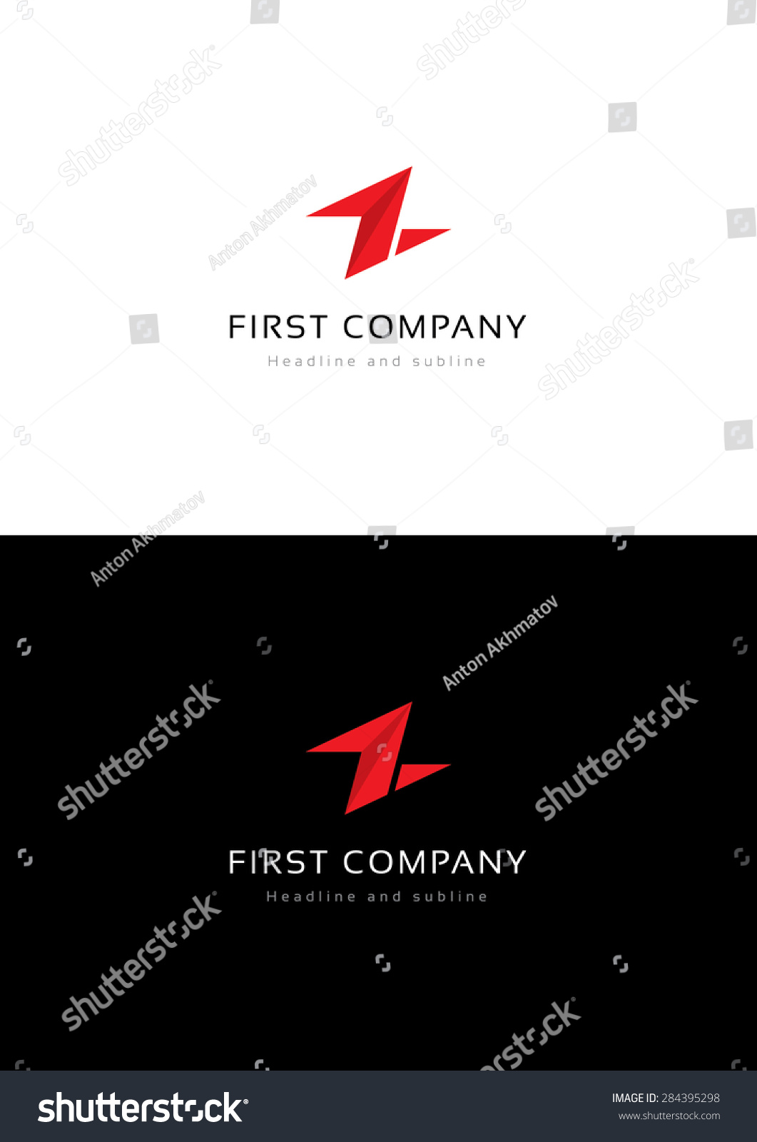 First lighting company logo template stock vector for Lights company