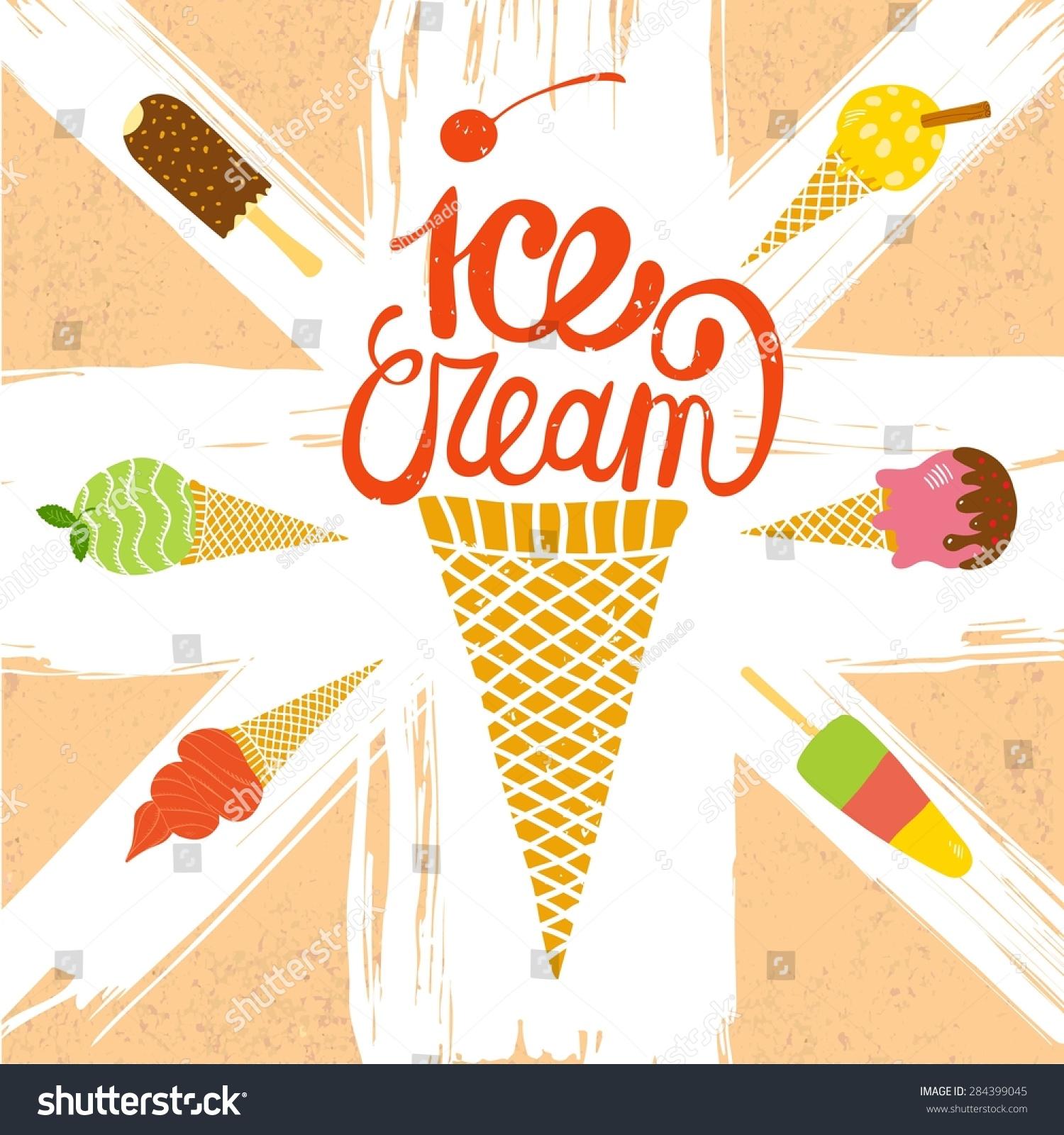Hand Drawn Ice Cream Set Cute Stock Vector HD (Royalty Free ...