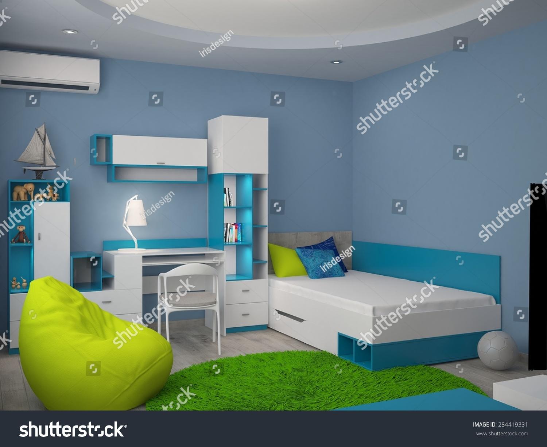 3d rendering nursery interior design stock illustration for Nursery interior designs