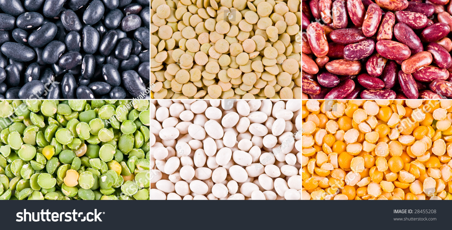 Collage Different Types Haricot Beans Peas Stock Photo Edit Now