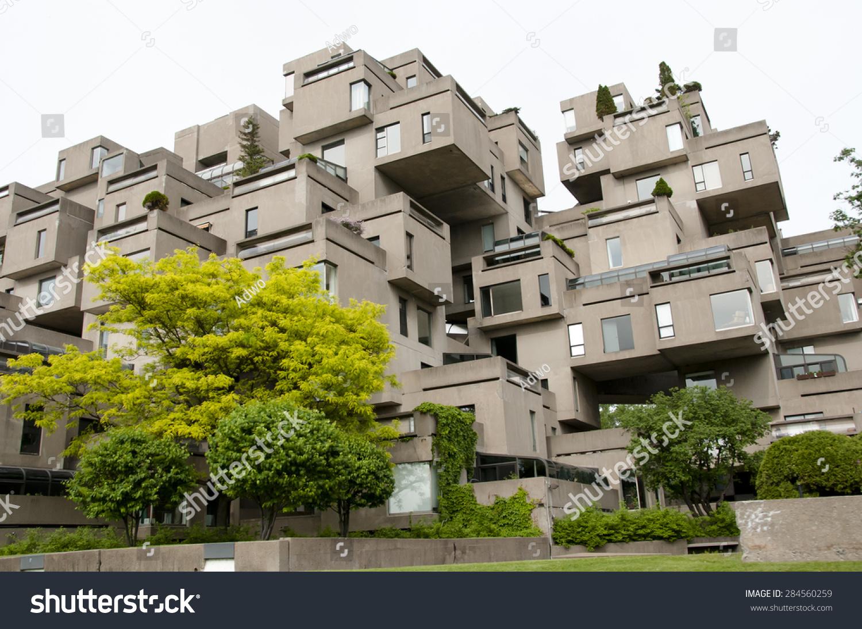 Habitat 67 Apartments - Montreal - Canada Stock Photo ...