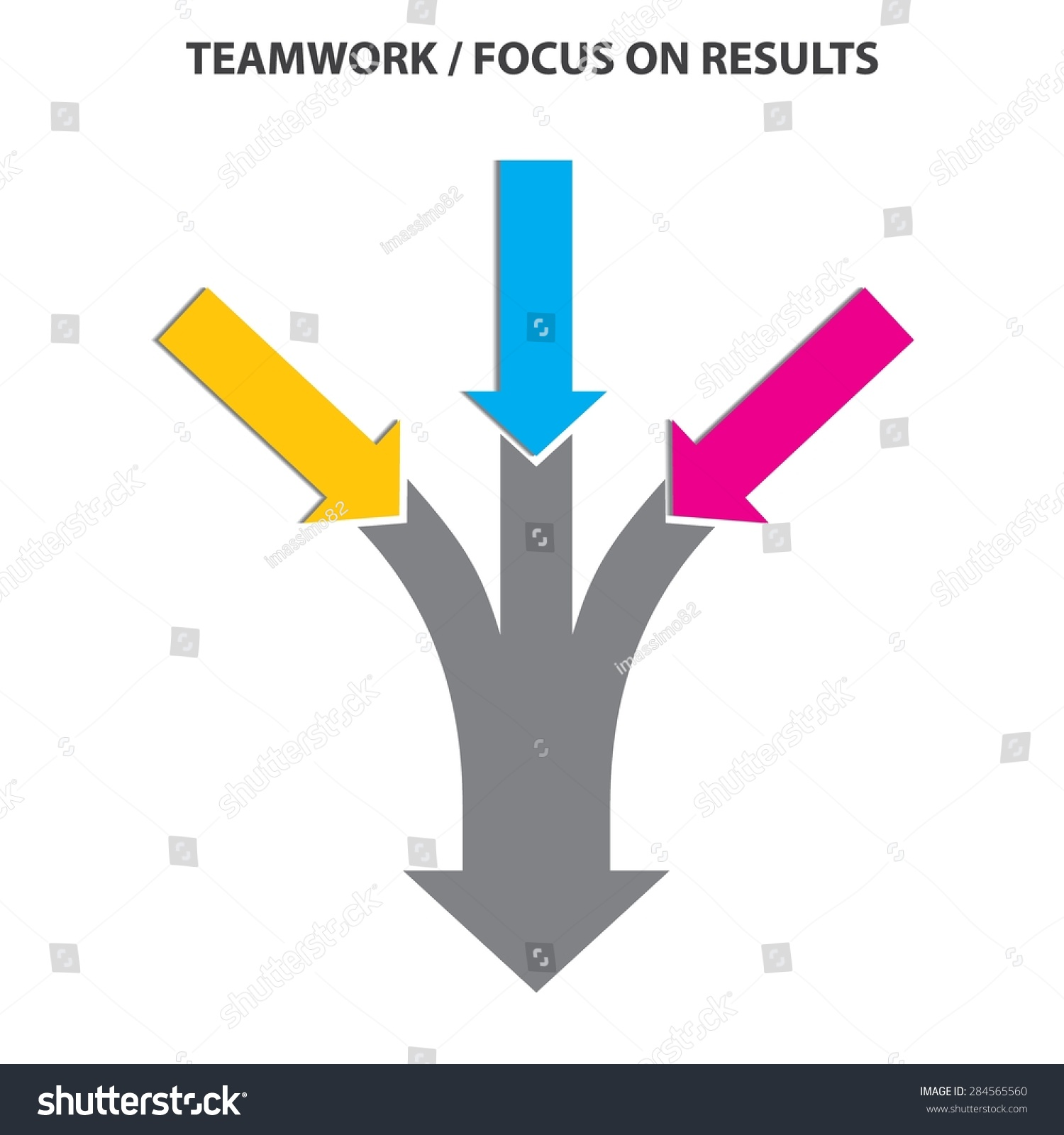 Teamwork And Focus On Results - 3 In 1 Vertical Converging ...