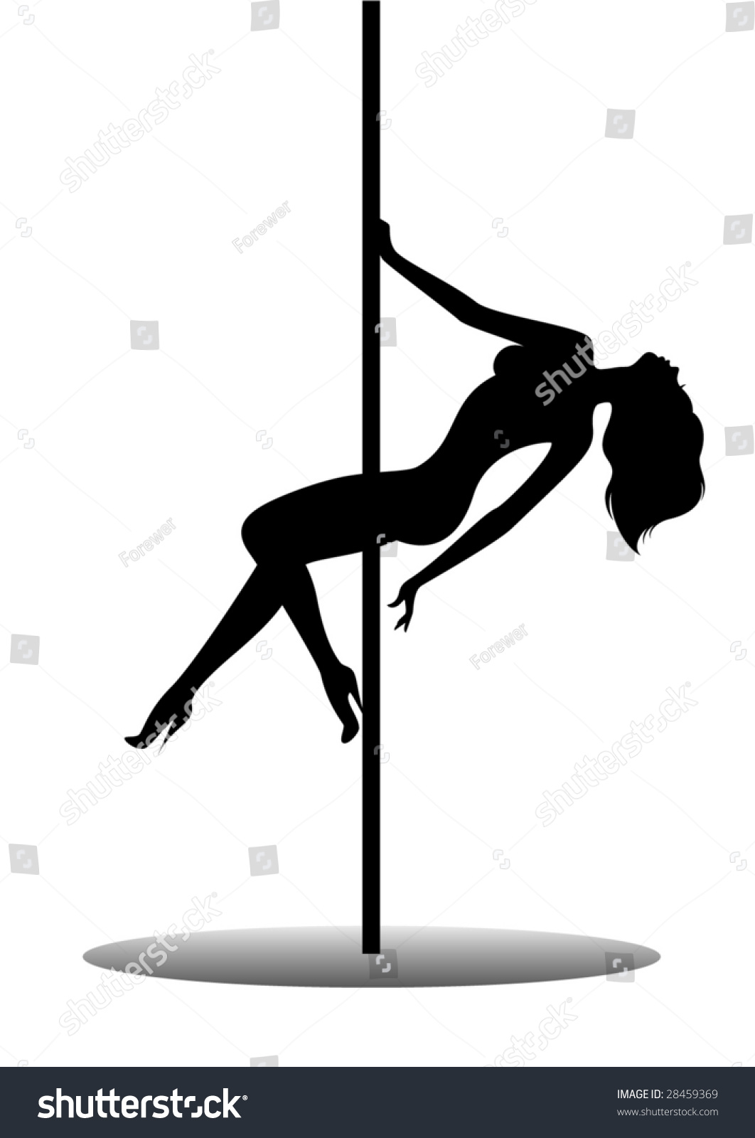 Beautiful Silhouette Young Women Dancing Striptease Stock -4732