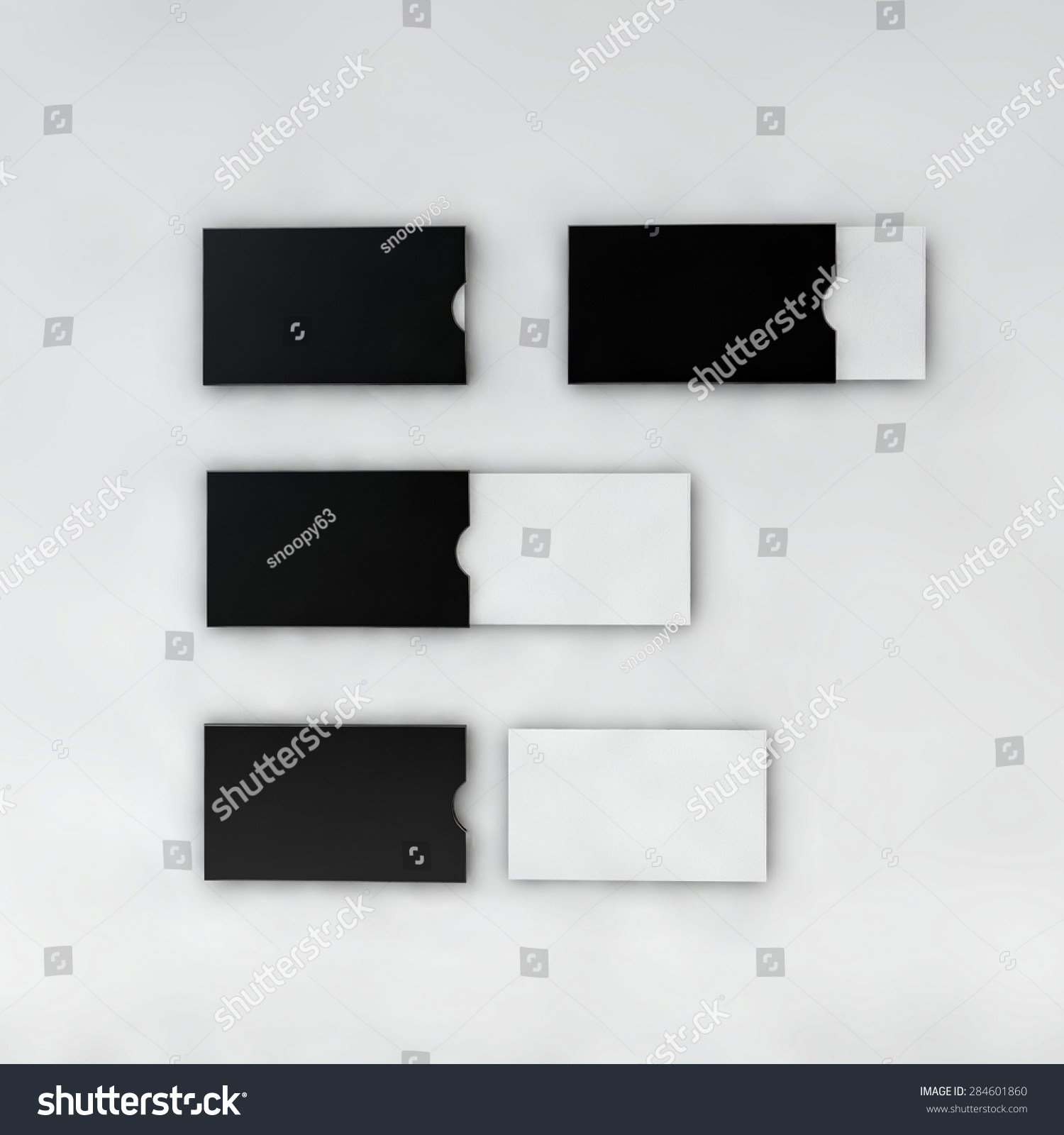 Mock Business Card Holder Black White Stock Illustration 284601860 ...