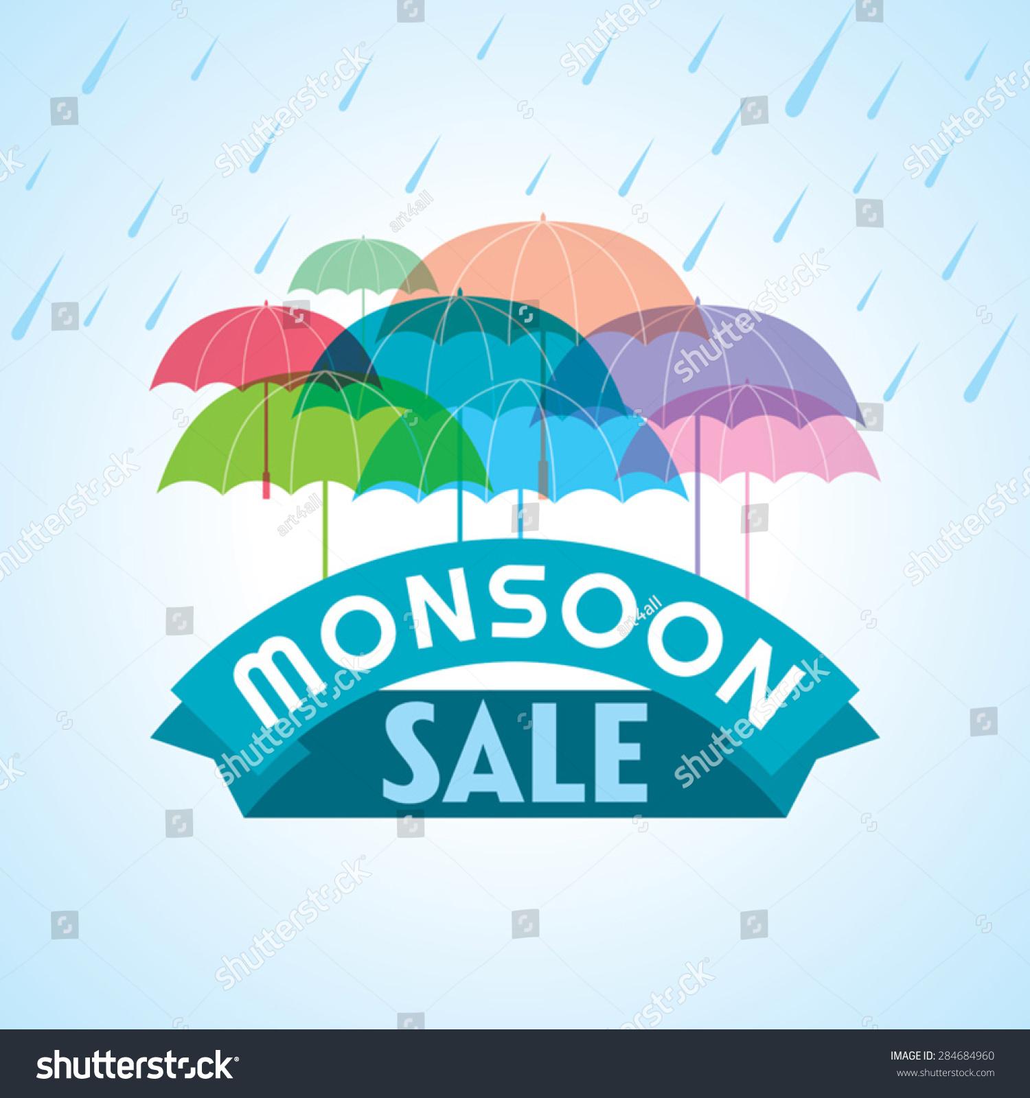 monsoon offer banner flyer poster stock vector 284684960 monsoon offer and banner flyer or poster