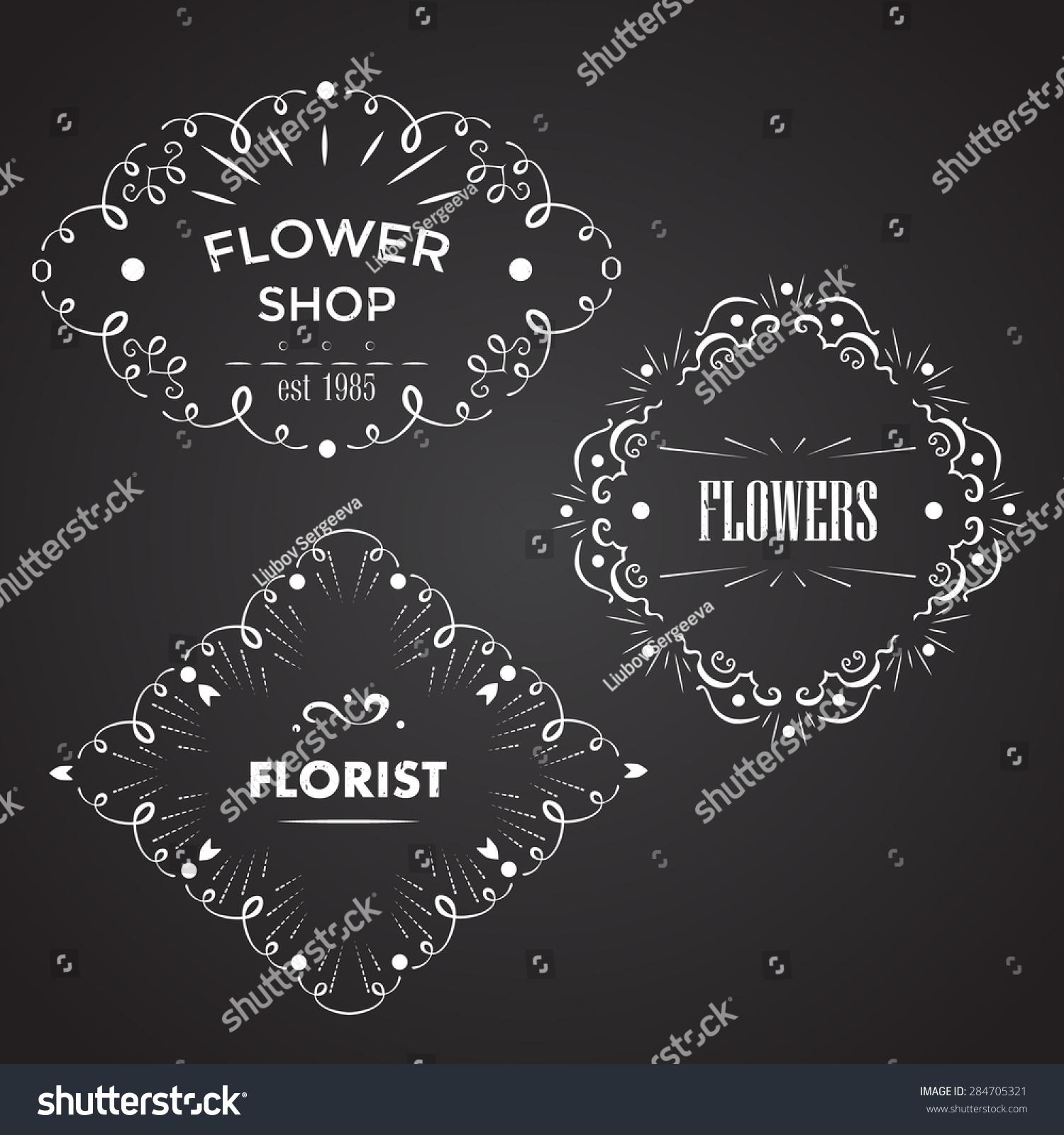 Vector Design Templates Florist Flower Shops Stock Vector (Royalty ...