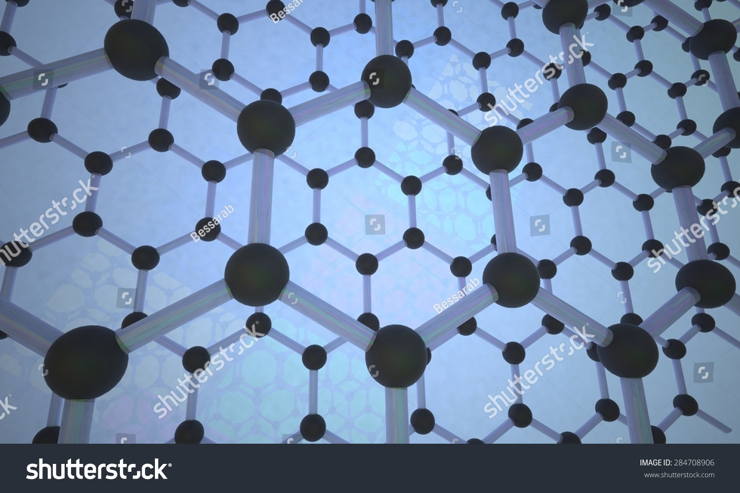 Graphene. Crystal Lattice Stock Photo 284708906 : Shutterstock