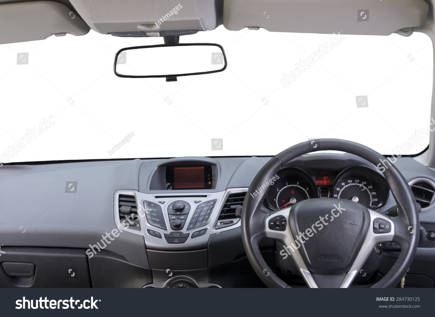 interior of right hand drive car image shows driver controls dashboard central rear view. Black Bedroom Furniture Sets. Home Design Ideas