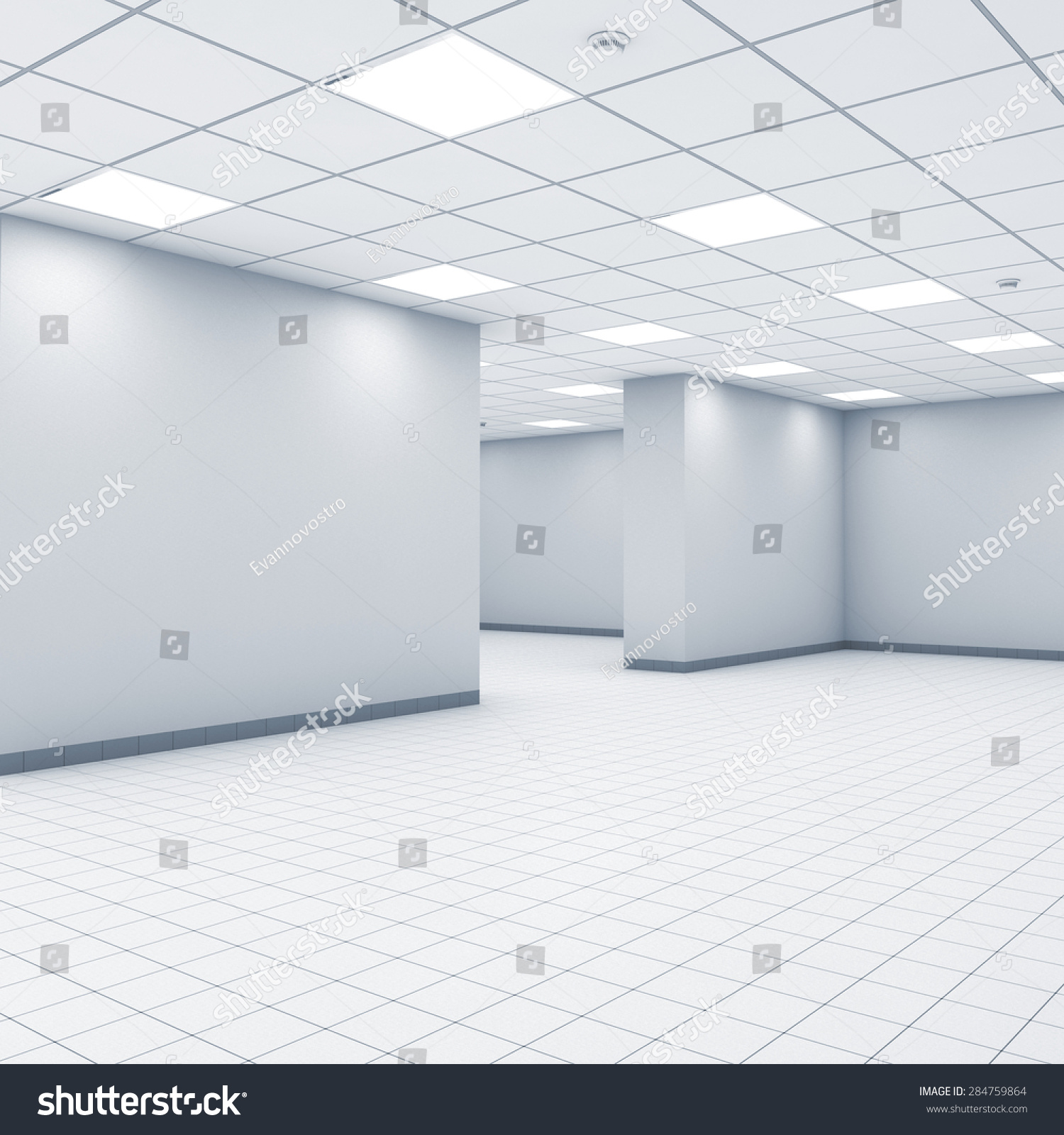 Open Space Background Abstract Empty Office Stock Illustration ...
