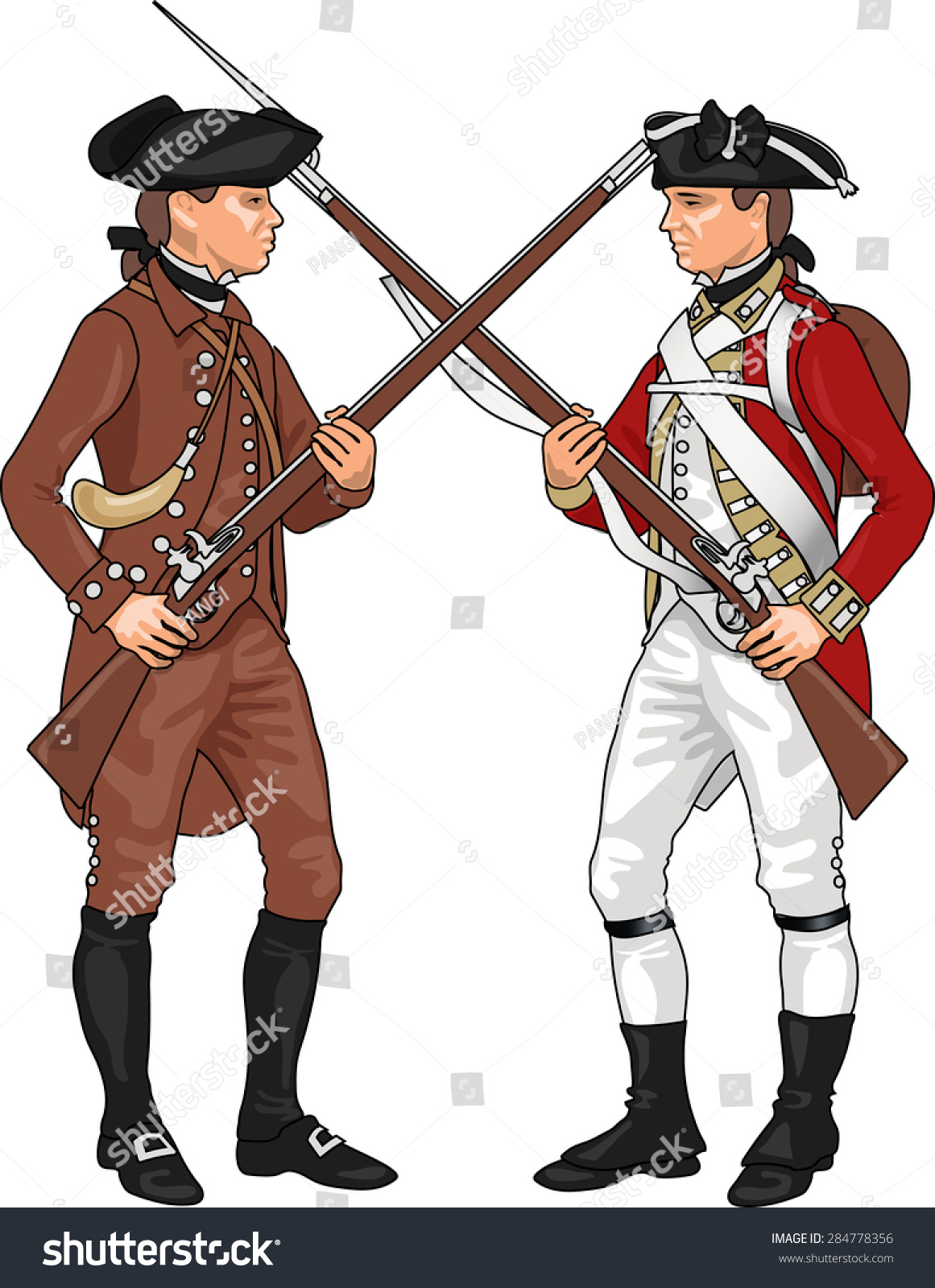 how to draw a british soldier from the revolutionary war