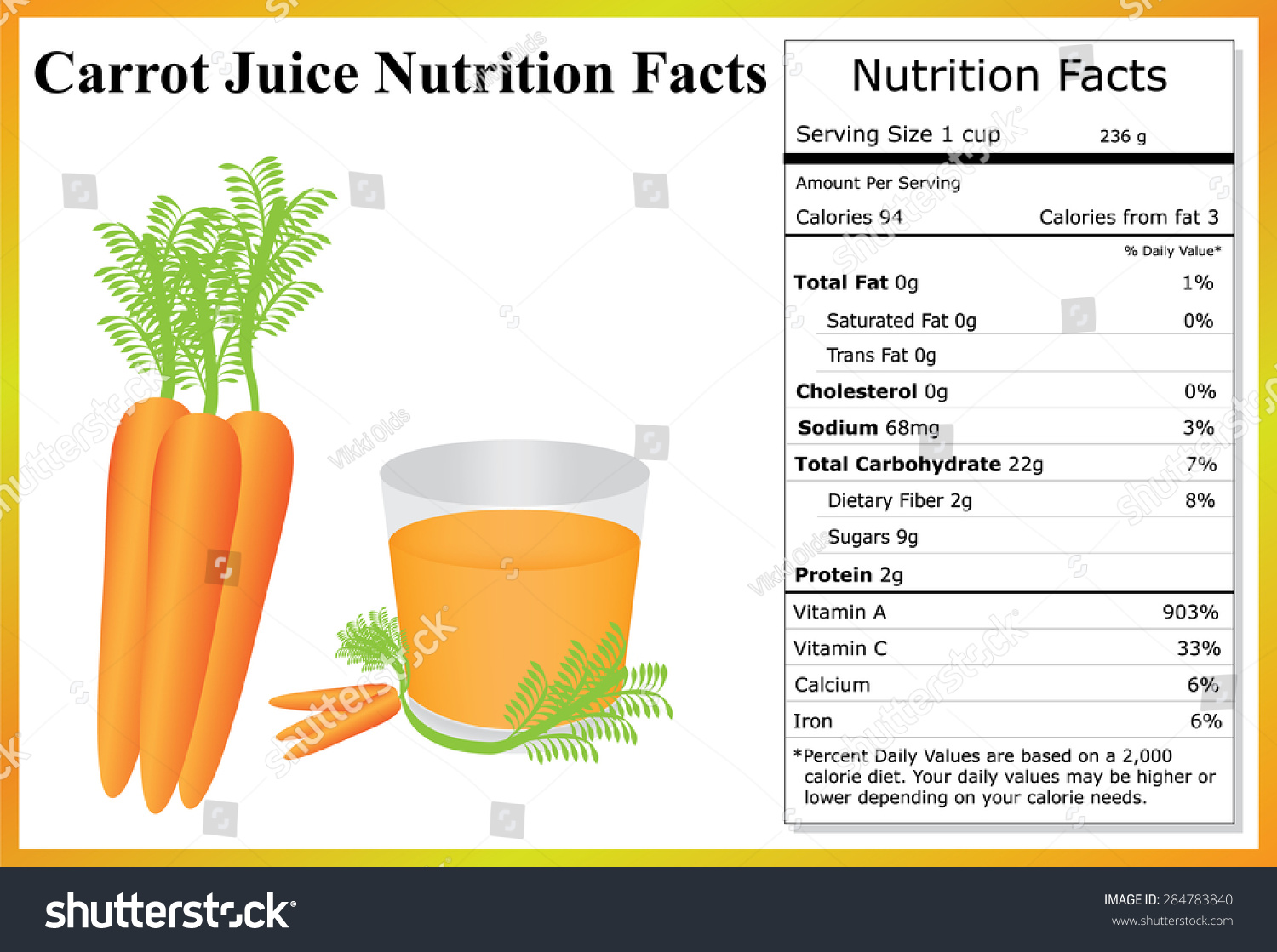 carrot juice nutrition facts carrots carrot stock vector (royalty