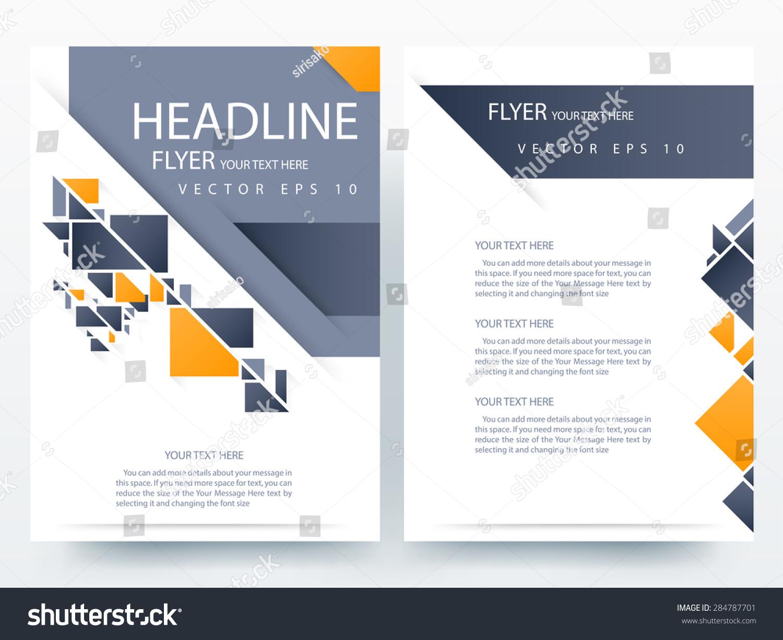 modern brochure templates - abstract vector modern flyer brochure annual stock vector