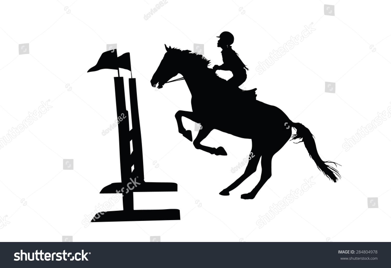 Prance Horse Black Silhouette Vector Illustration Stock Vector Royalty Free 284804978