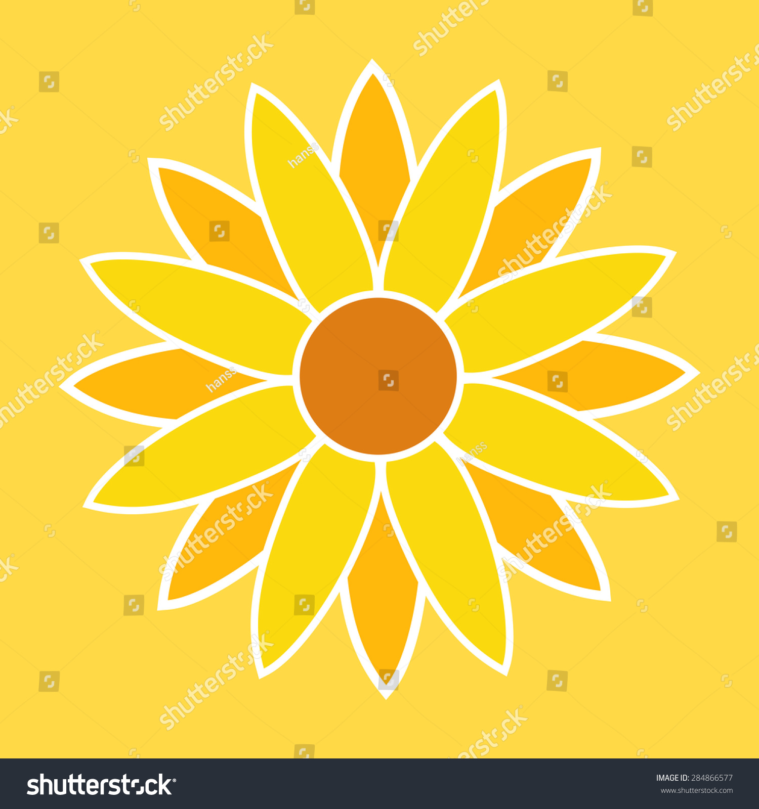 Sunflower Illustration Sunflower Symbol Sunflower Sign Stock Vector