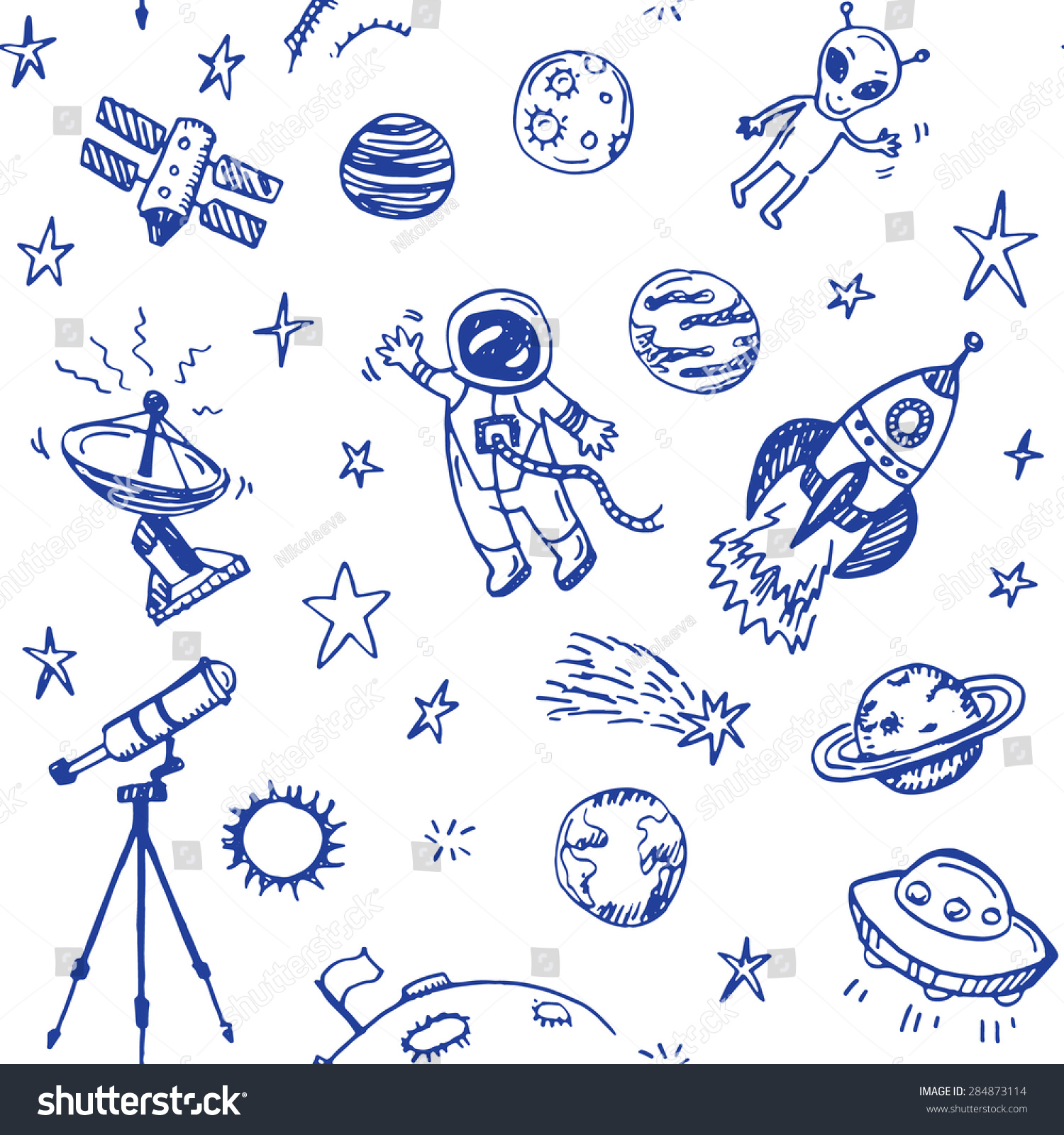 astronomy doodles - photo #39