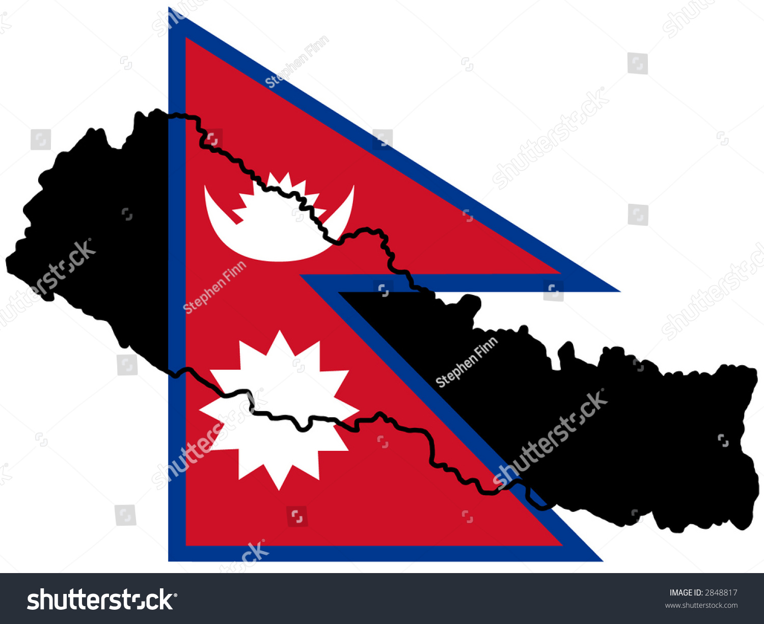 Map Nepal Nepalese Flag Illustration Stock Vector (Royalty Free ...