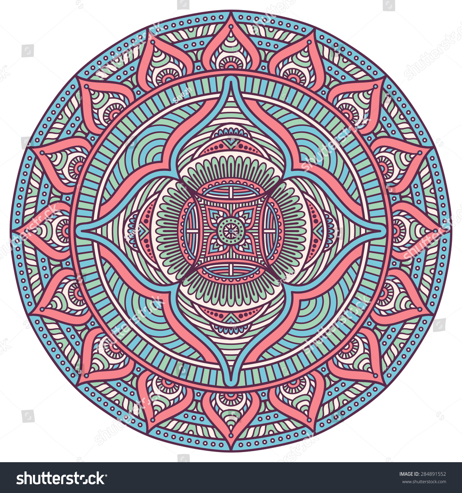 Mandala. Vintage decorative elements. Hand drawn background. Islam ...