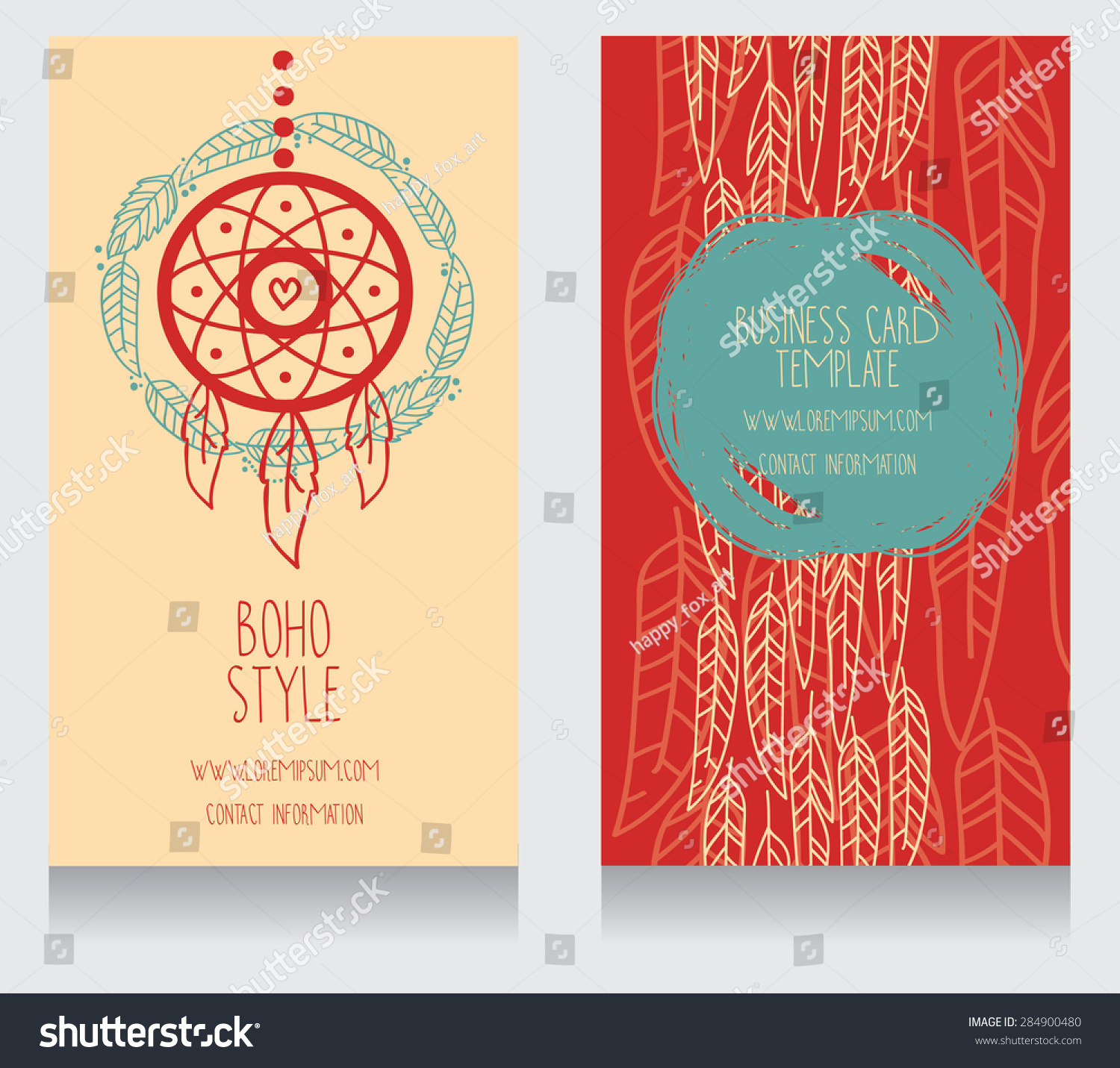 Two Cards Boho Style Can Be Stock Vector (Royalty Free) 284900480 ...