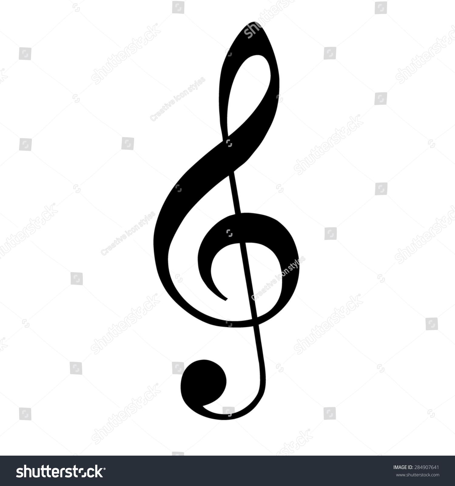 Musical Symbols Treble Clef Vector Ez Canvas