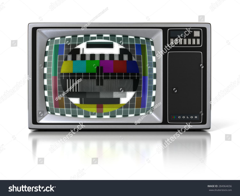 Vintage Portable Screen : S vintage portable television set color stock