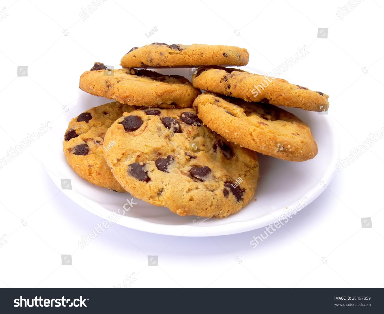 Plate of cookies cartoon
