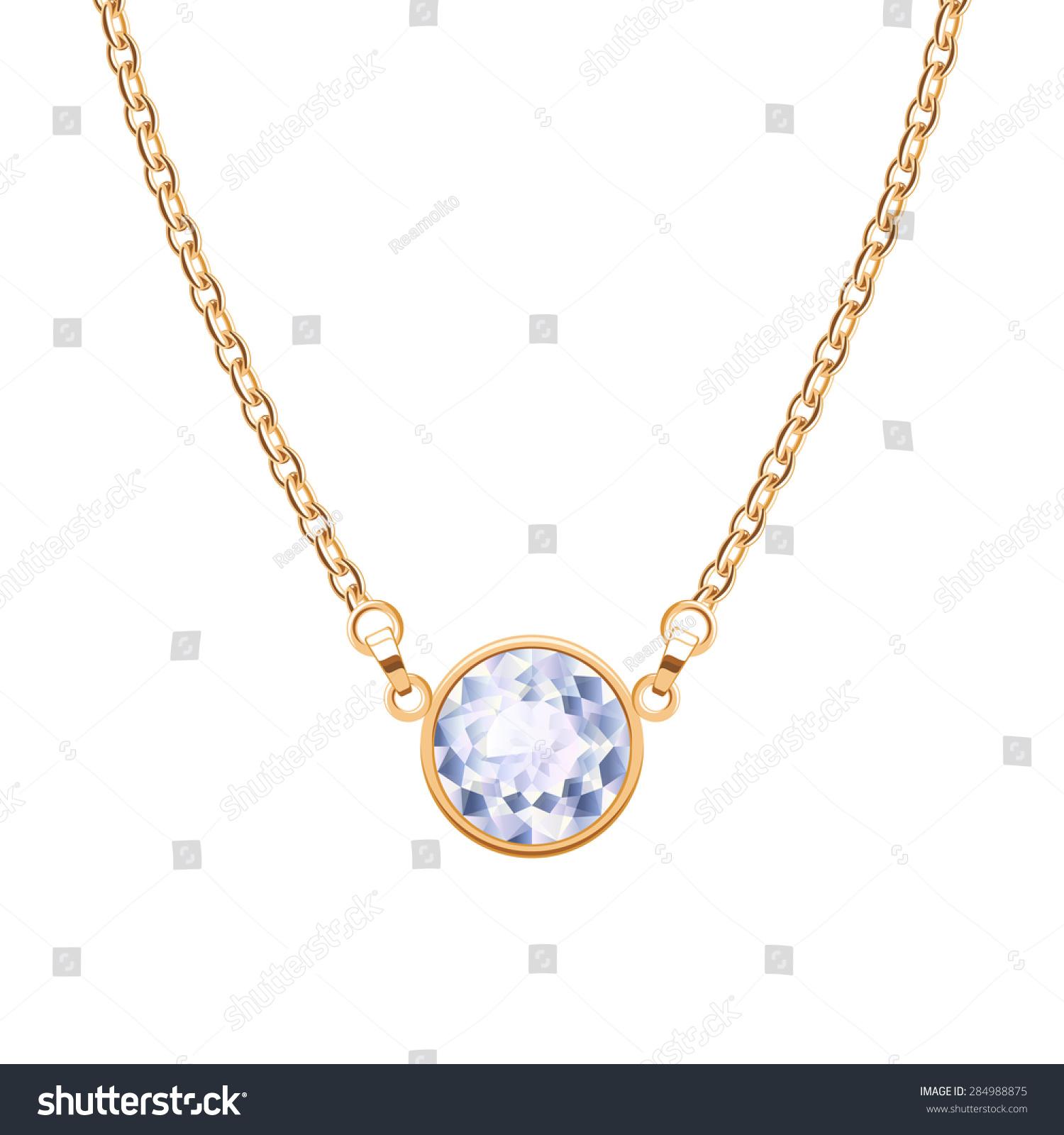 Golden chain necklace round diamond pendant vectores en stock golden chain necklace round diamond pendant vectores en stock 284988875 shutterstock aloadofball Choice Image