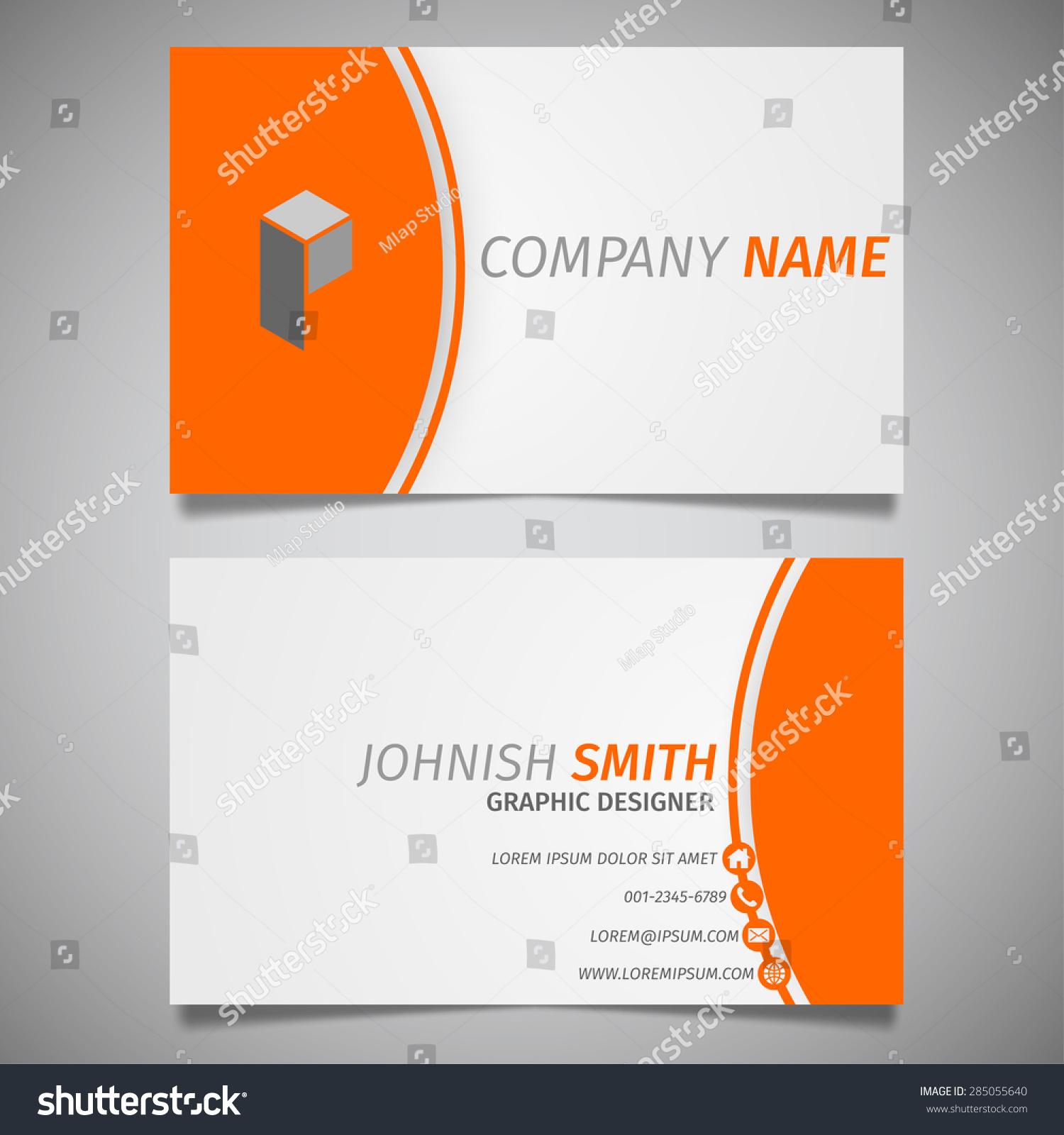 Modern Creative Simple Business Card White Stock Vector 285055640 ...