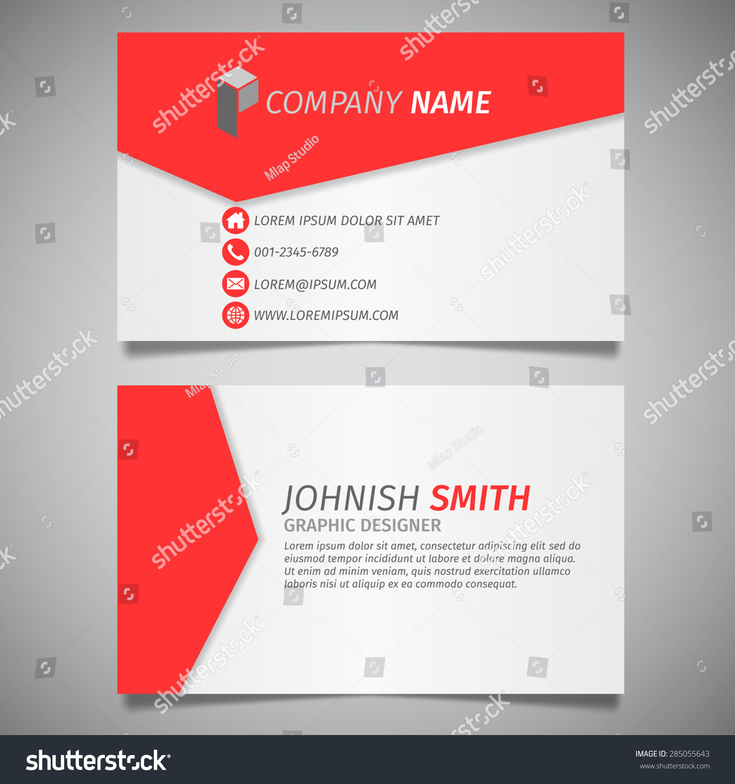 Modern Creative Design Simple Business Card Stock Vector