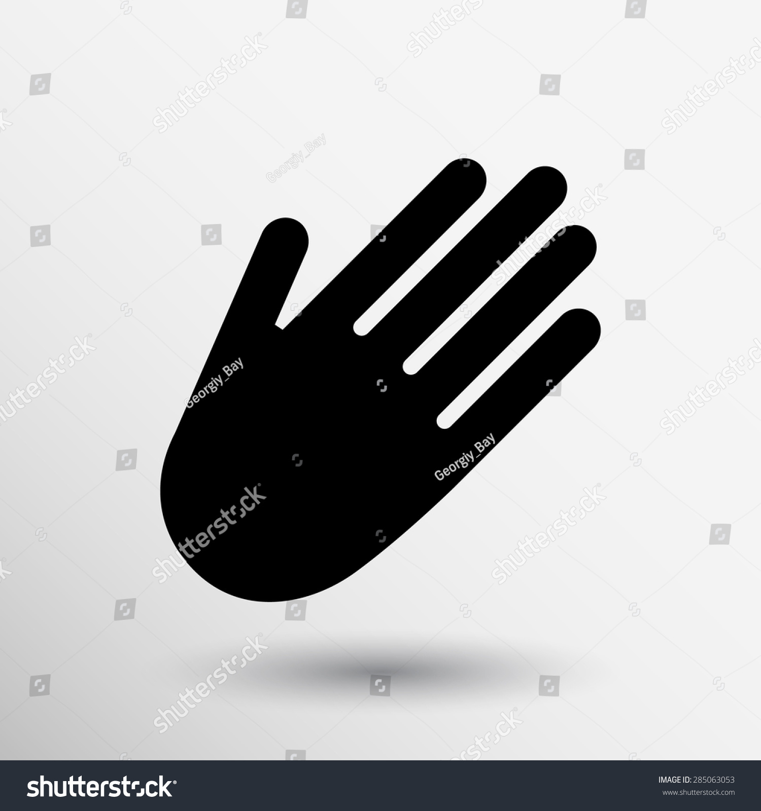 Hand Vector Icon Palm Symbol Graphic Stock Vector 285063053