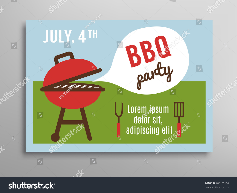 summer party invitation bbq picnic brochure stock vector royalty