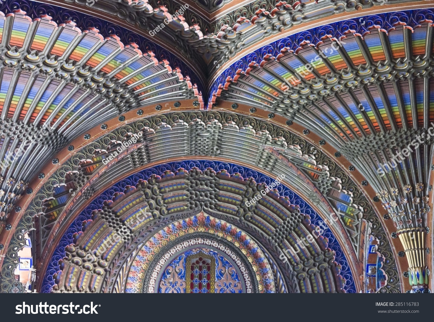 Reggello Italy  City pictures : REGGELLO, ITALY MAY 2 2015: Close up of the magnificent ceiling in ...