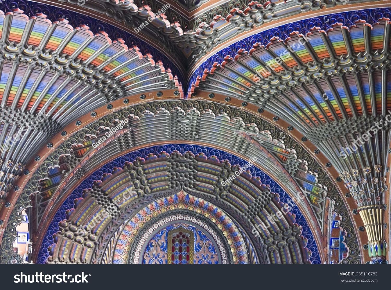 Reggello Italy  city photos : REGGELLO, ITALY MAY 2 2015: Close up of the magnificent ceiling in ...