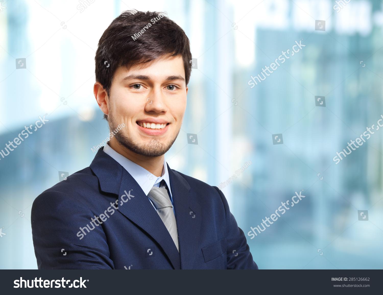 Smiling businessman stockfoto 285126662 shutterstock - Voorbeeld volwassene kamer ...
