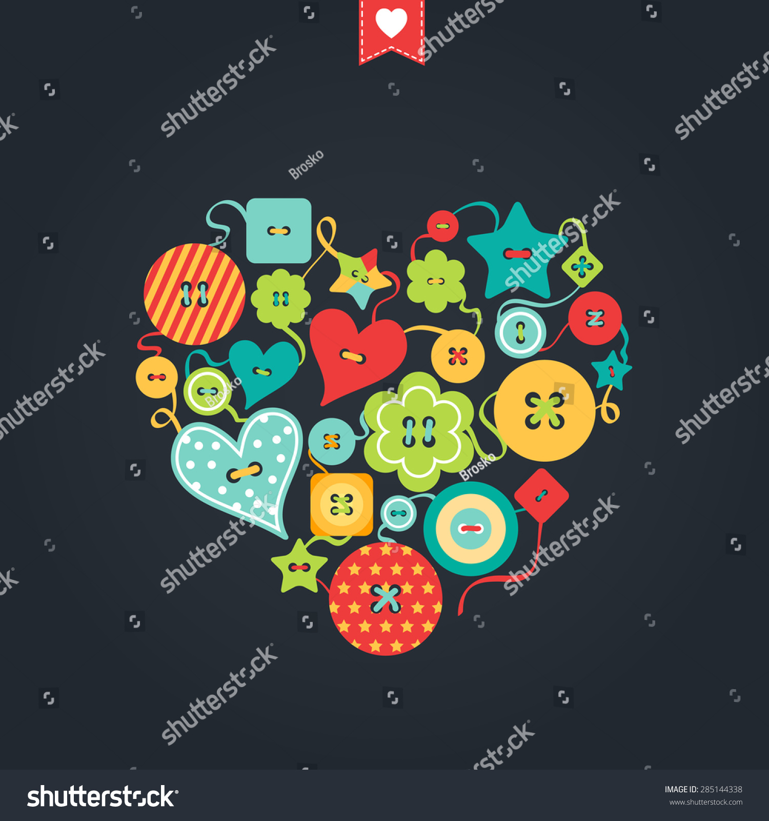 Creative greeting card happy valentines day stock vector 285144338 creative greeting card happy valentines day wedding marriage birthday colored buttons kristyandbryce Images