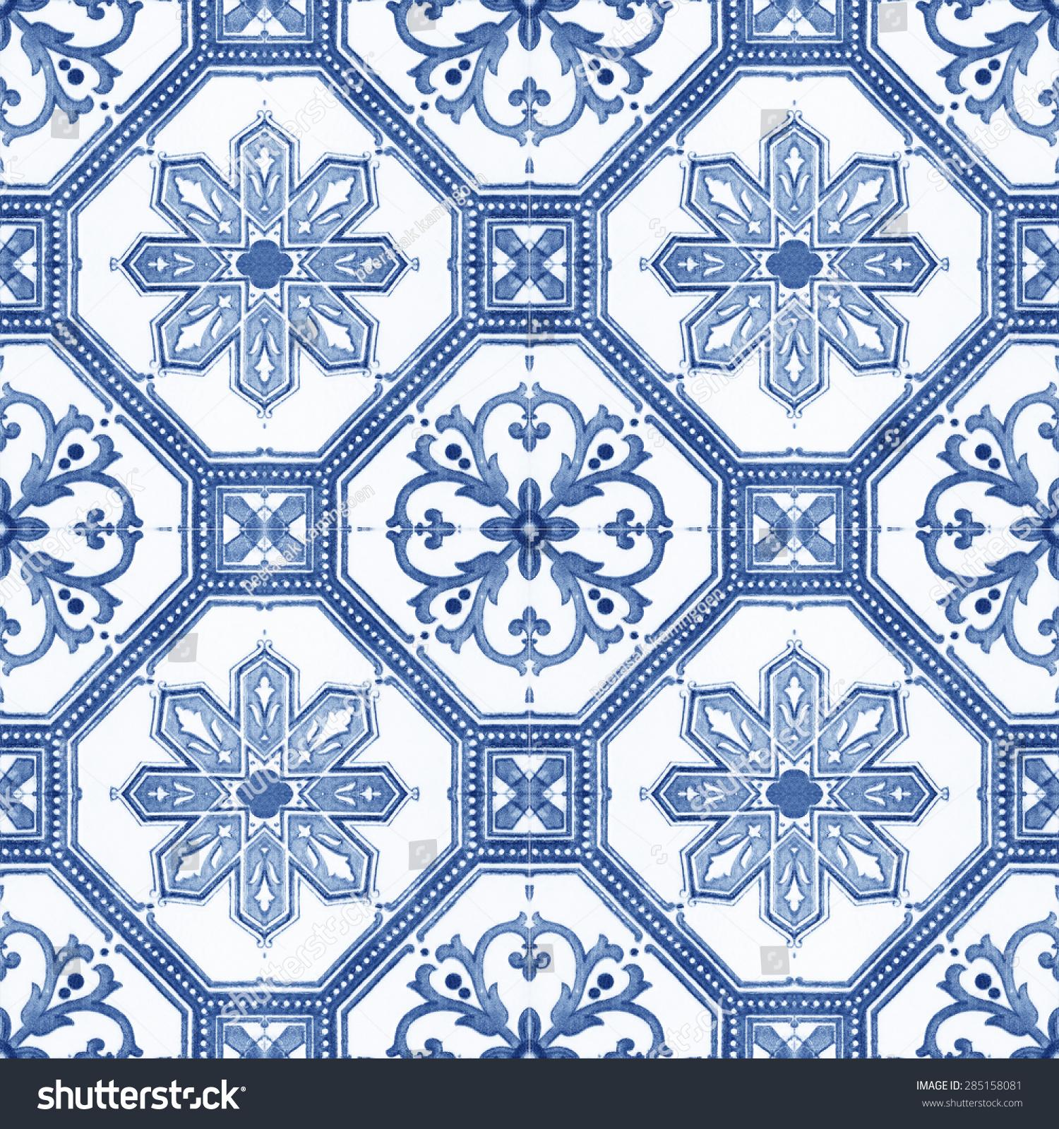 Old Ceramic Tiles Patterns Handicraft Thailand Stock Photo (Edit Now ...