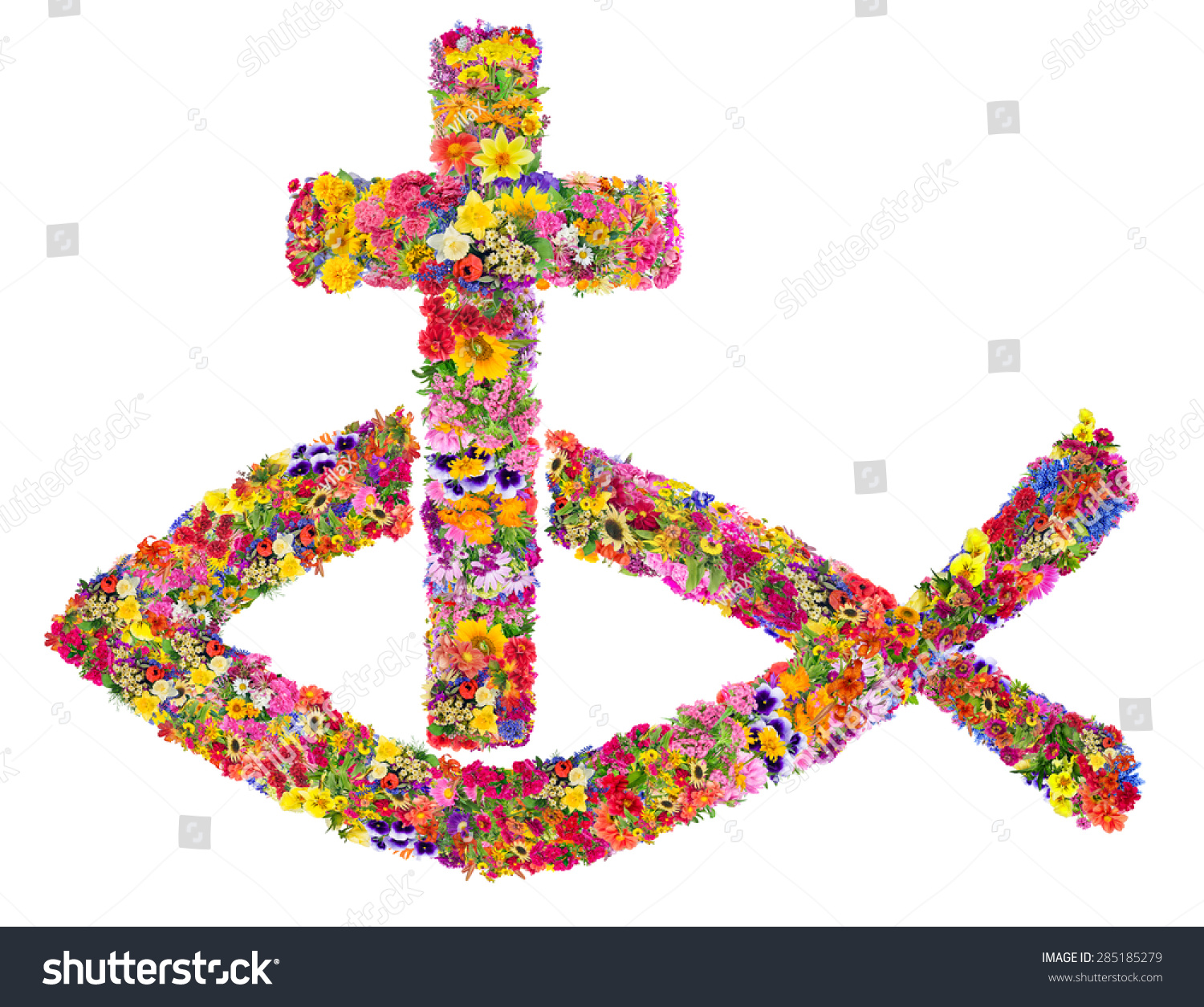 What is the name of the christian fish symbol images symbol and symbol name jesus christ fish cross stock photo 285185279 symbol of name of jesus christ fish biocorpaavc