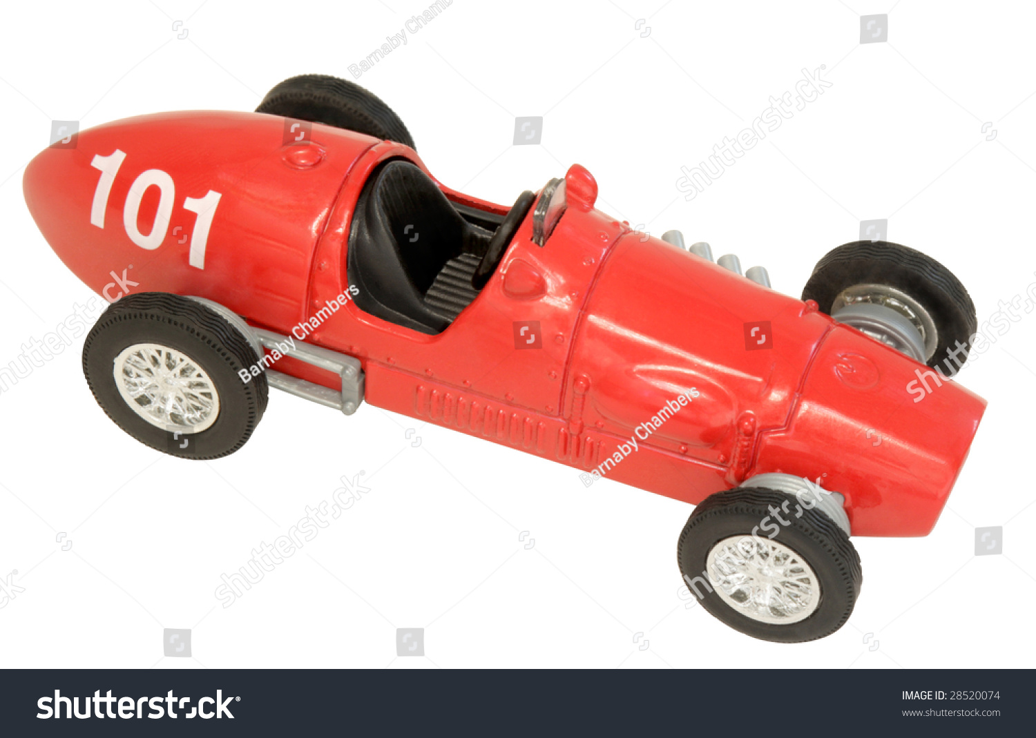 Old Fashioned Toy Racing Car Stock Photo (Royalty Free) 28520074 ...