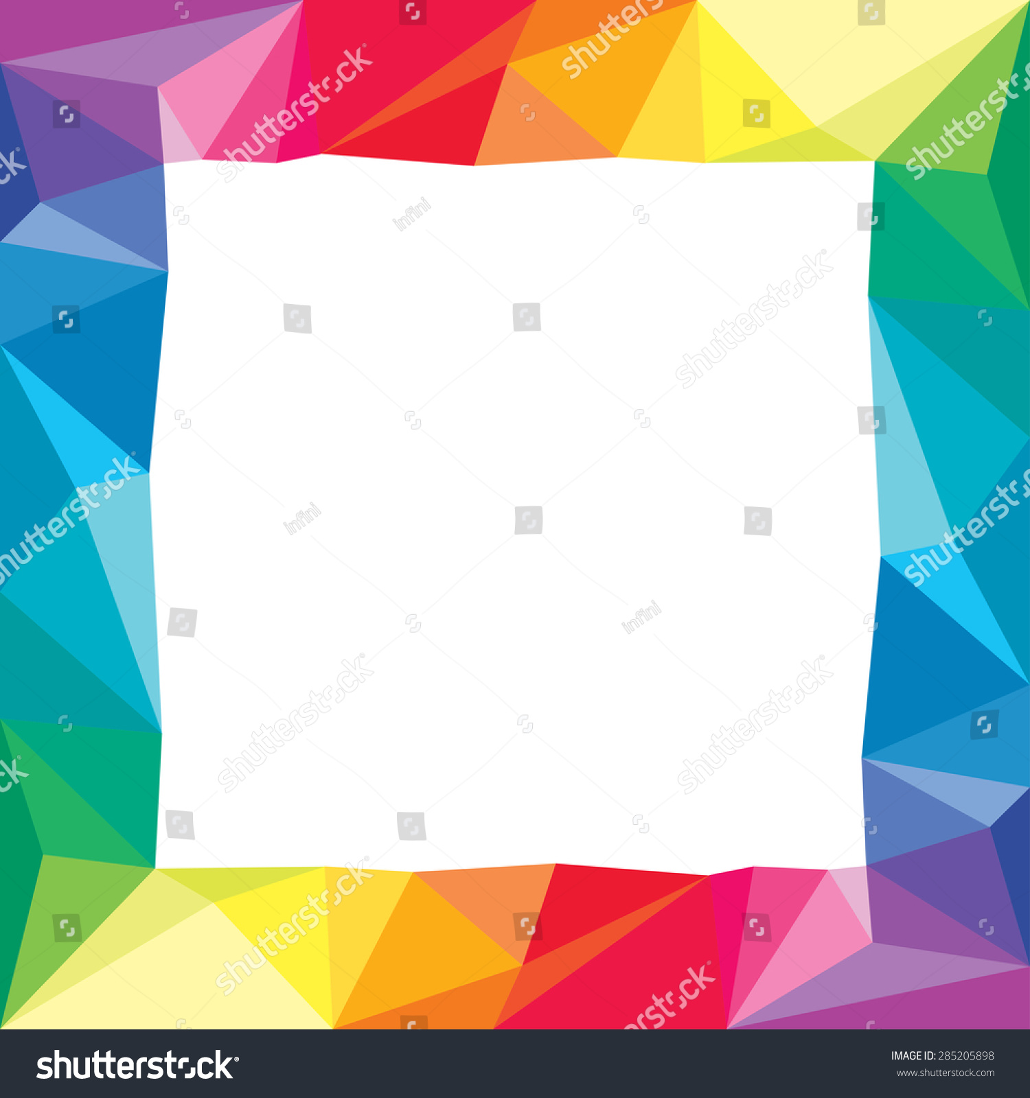 Abstract Geometric Origami Color Paper Frame Stock Vector (Royalty ...