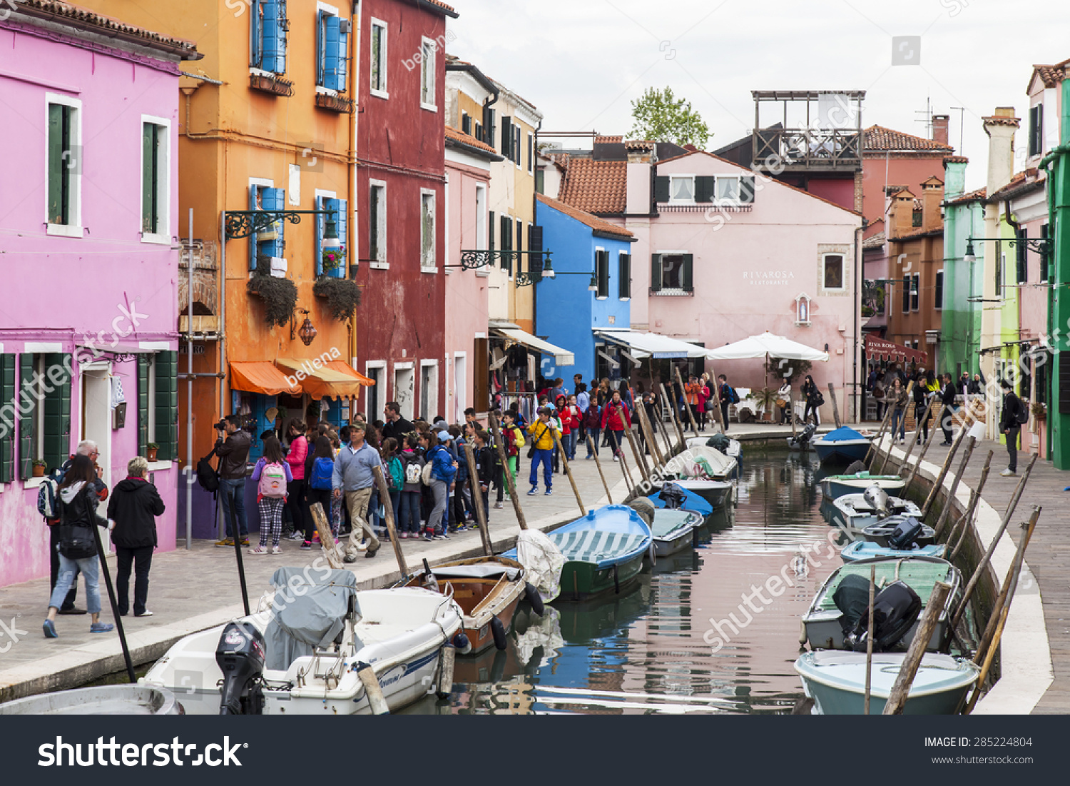 Colorful burano italy burano tourism - Venice Italy On April 30 2015 Burano Island Typical Street Canal