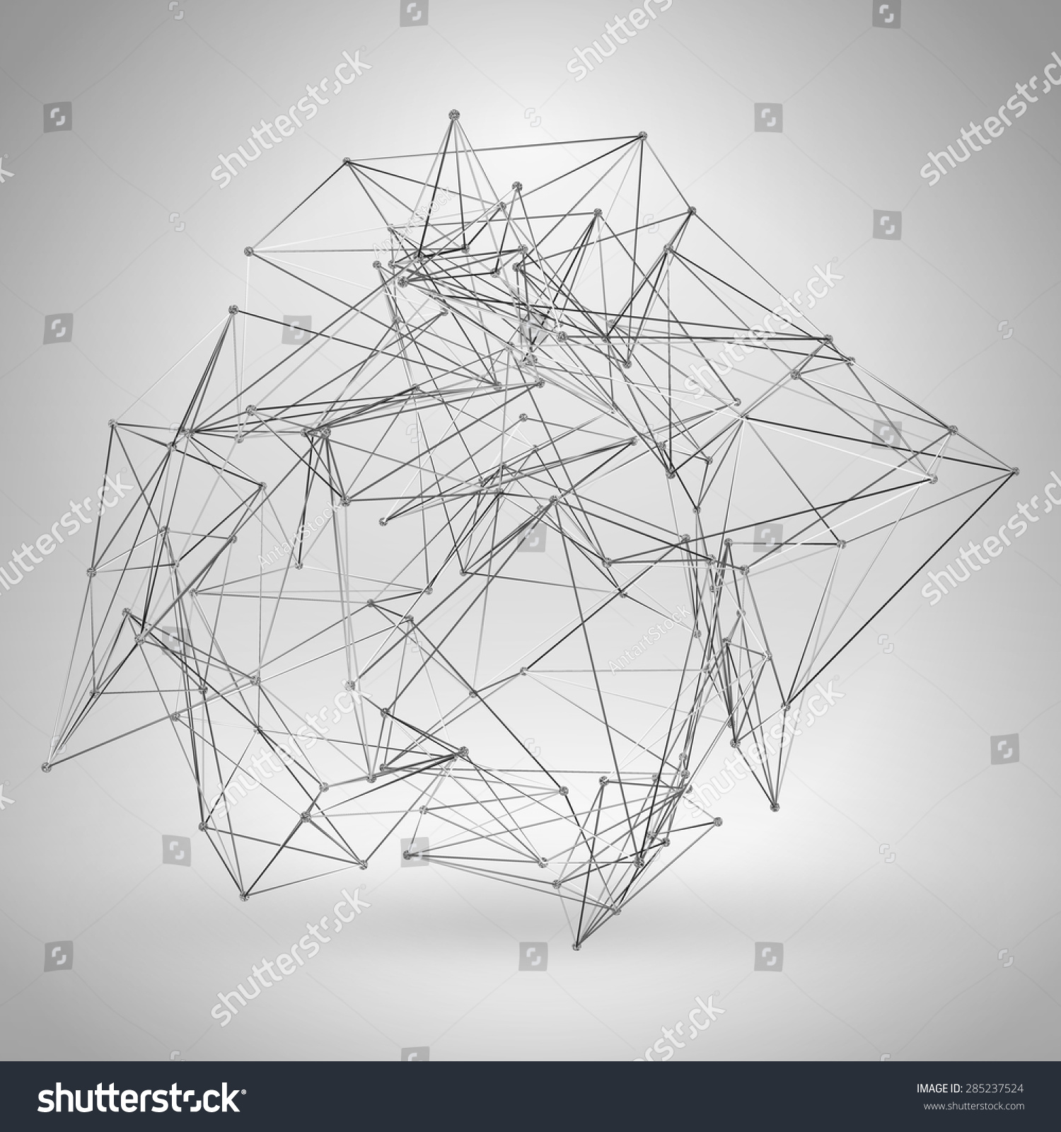 Wireframe Polygonal Element Abstract 3 D Object Stock Vector ...