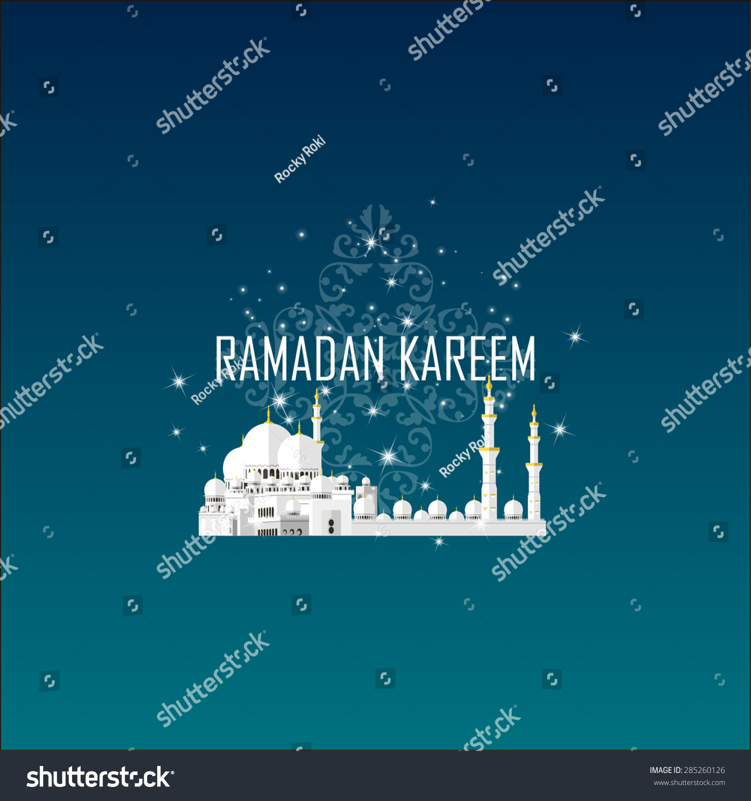 Ramadan kareem greeting cards muslim background stock vector ramadan kareem greeting cards muslim background mosque and moon with stars vector illustration m4hsunfo