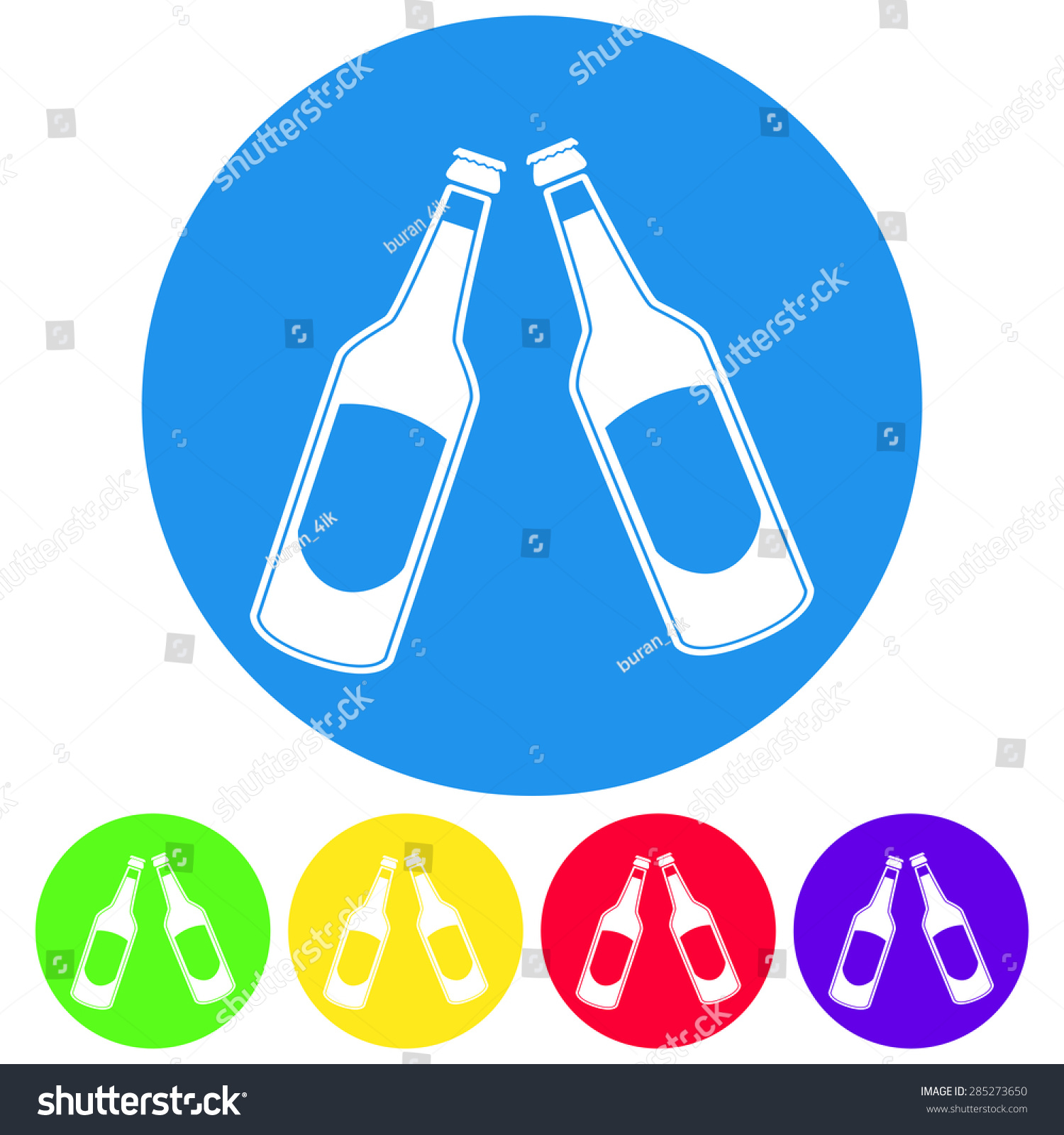 White apron ale - Vector Illustration Of Beer In A Bottle Icon Simple Black On White Background Button
