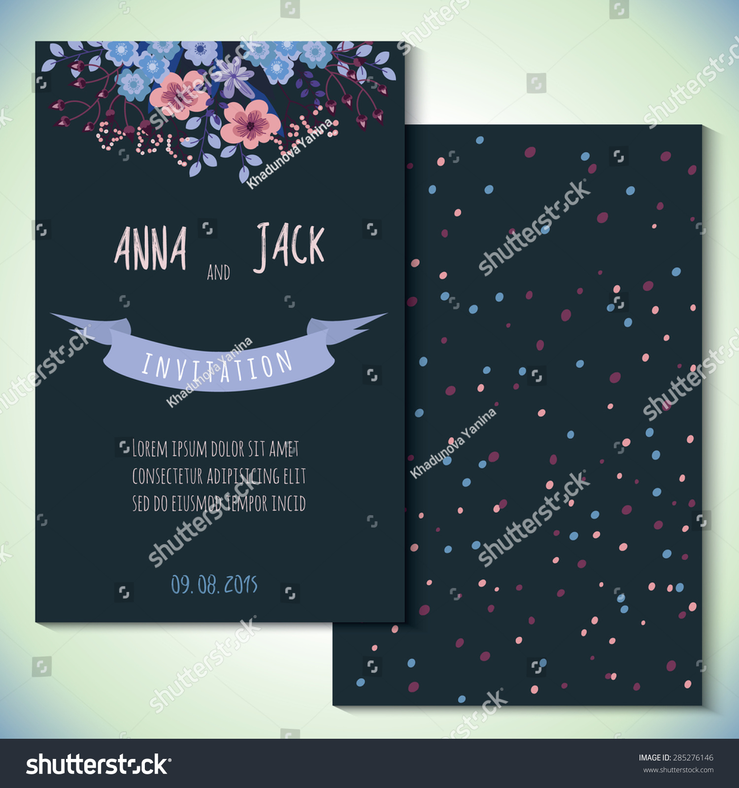Card templates wedding invitation save date stock vector 285276146 card templates for wedding invitation save the date cards mothers day valentines day bookmarktalkfo Images