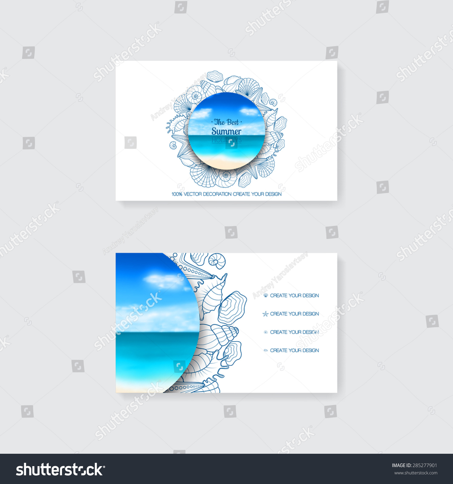 Royalty free Template of simple business card with…