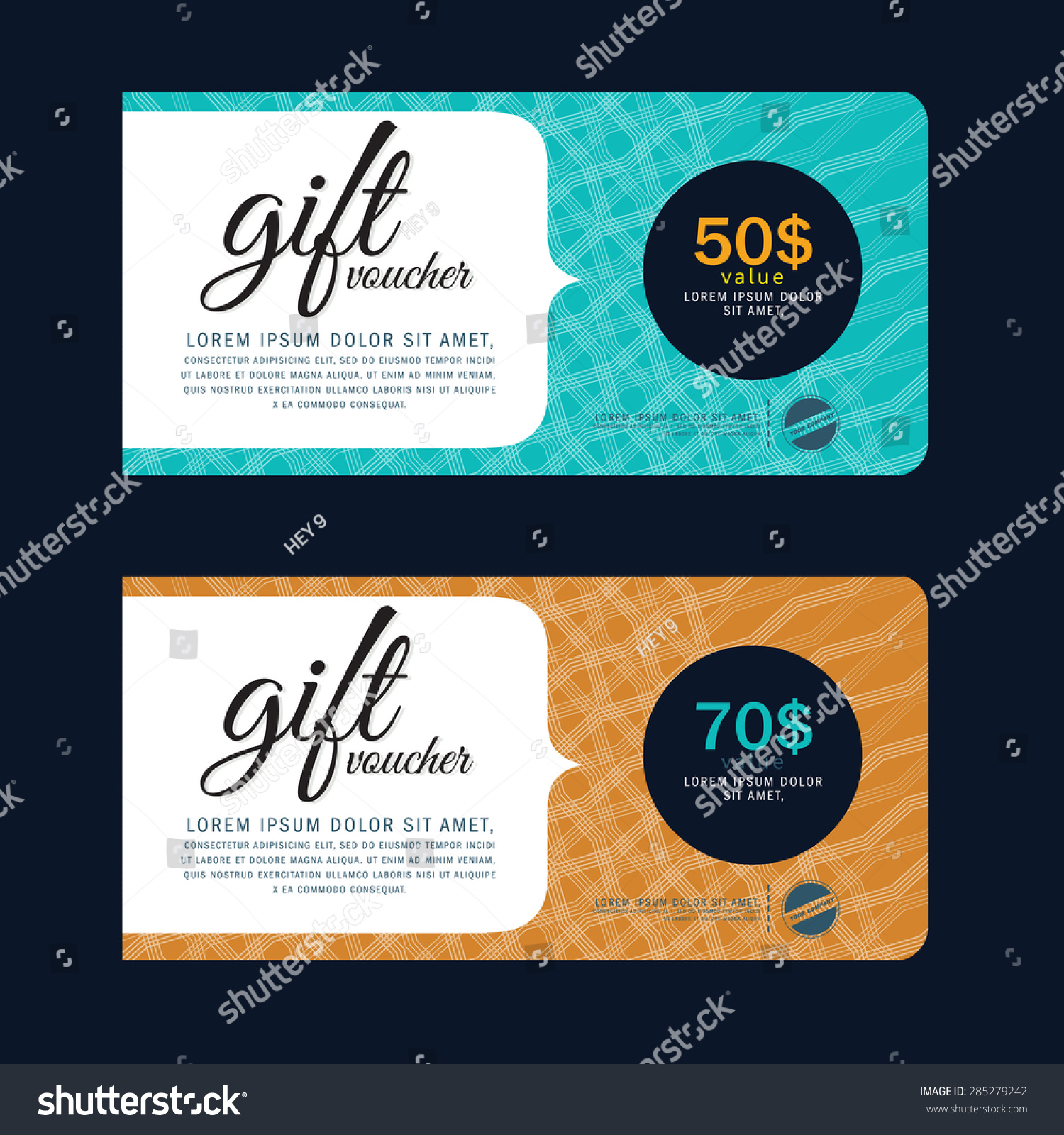 Gift voucher curved