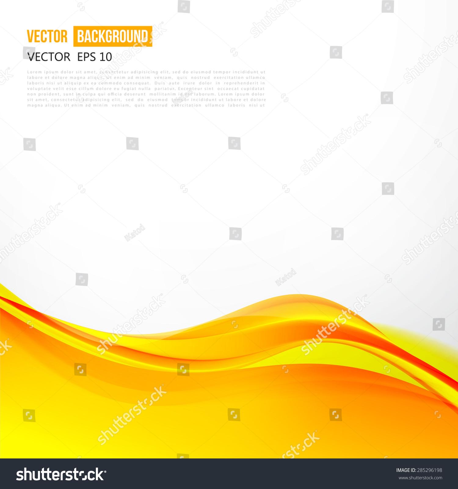 vector abstract orange background design wavy stock vector